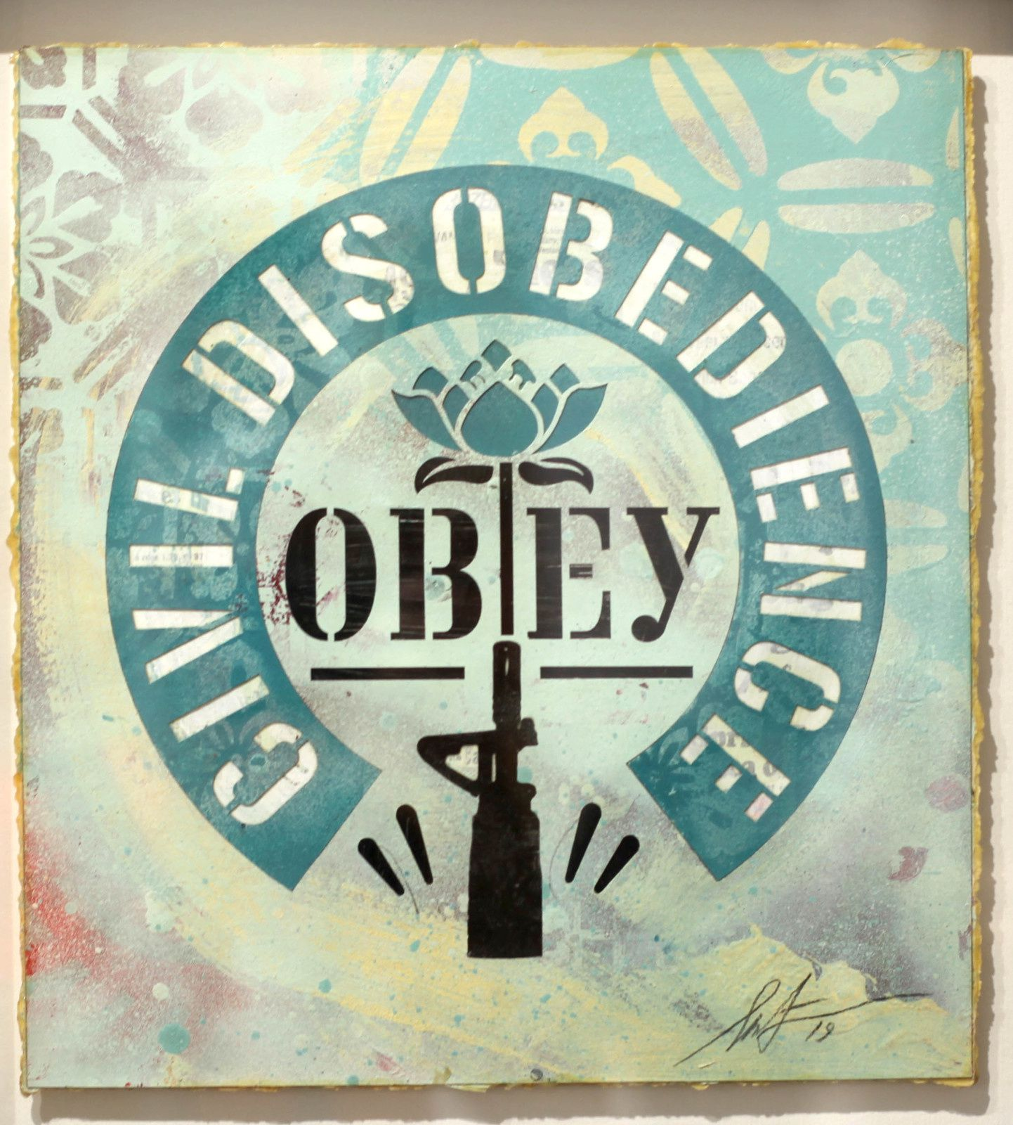 """Civil disobedience"", 2019 de Shepard FAIREY - Courtesy Galerie Itinerrance © Photo Éric Simon"