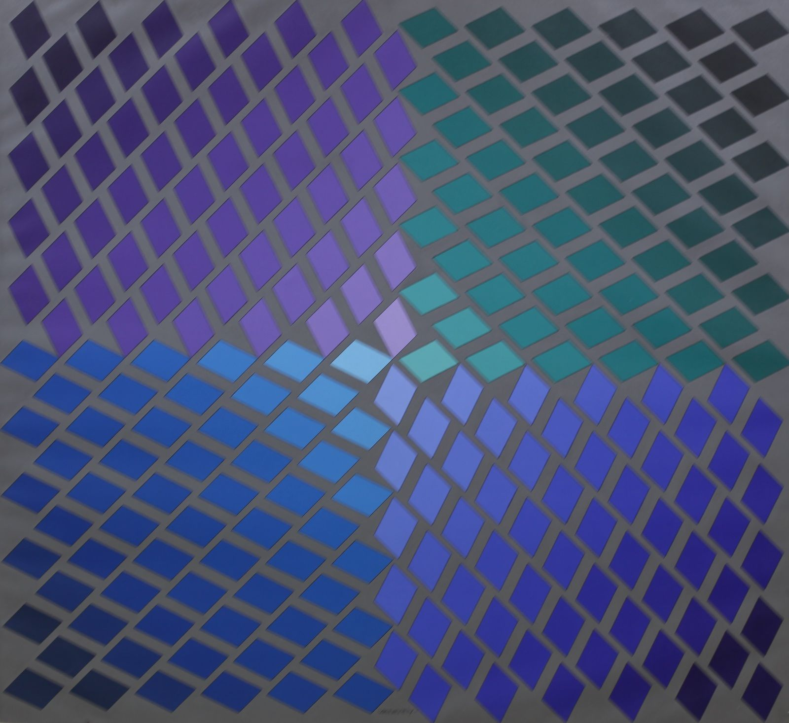 """Tau - 2"", 1973 de Victor VASARELY - Courtesy galerie Berès © Photo Éric Simon"