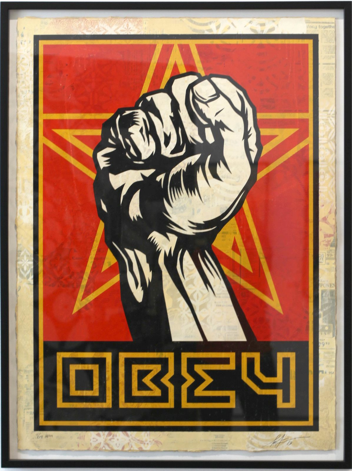 """First"", 2019 de Shepard FAIREY - Courtesy Galerie Itinerrance © Photo Éric Simon"