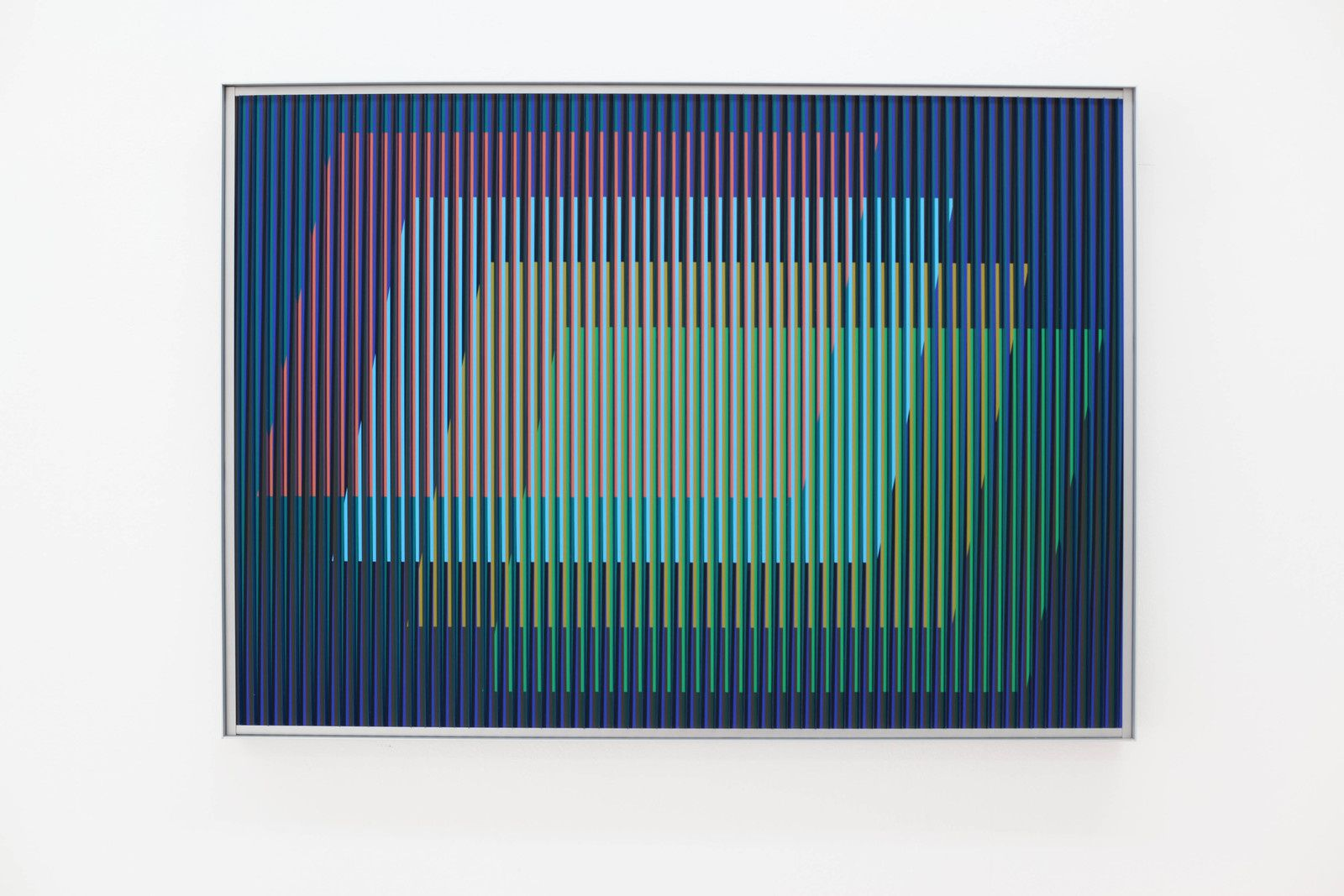 """Physichromie N°1882"", 2013 de Carlos CRUZ-DIEZ - Courtesy Galeie Denise René © Photo Éric Simon"