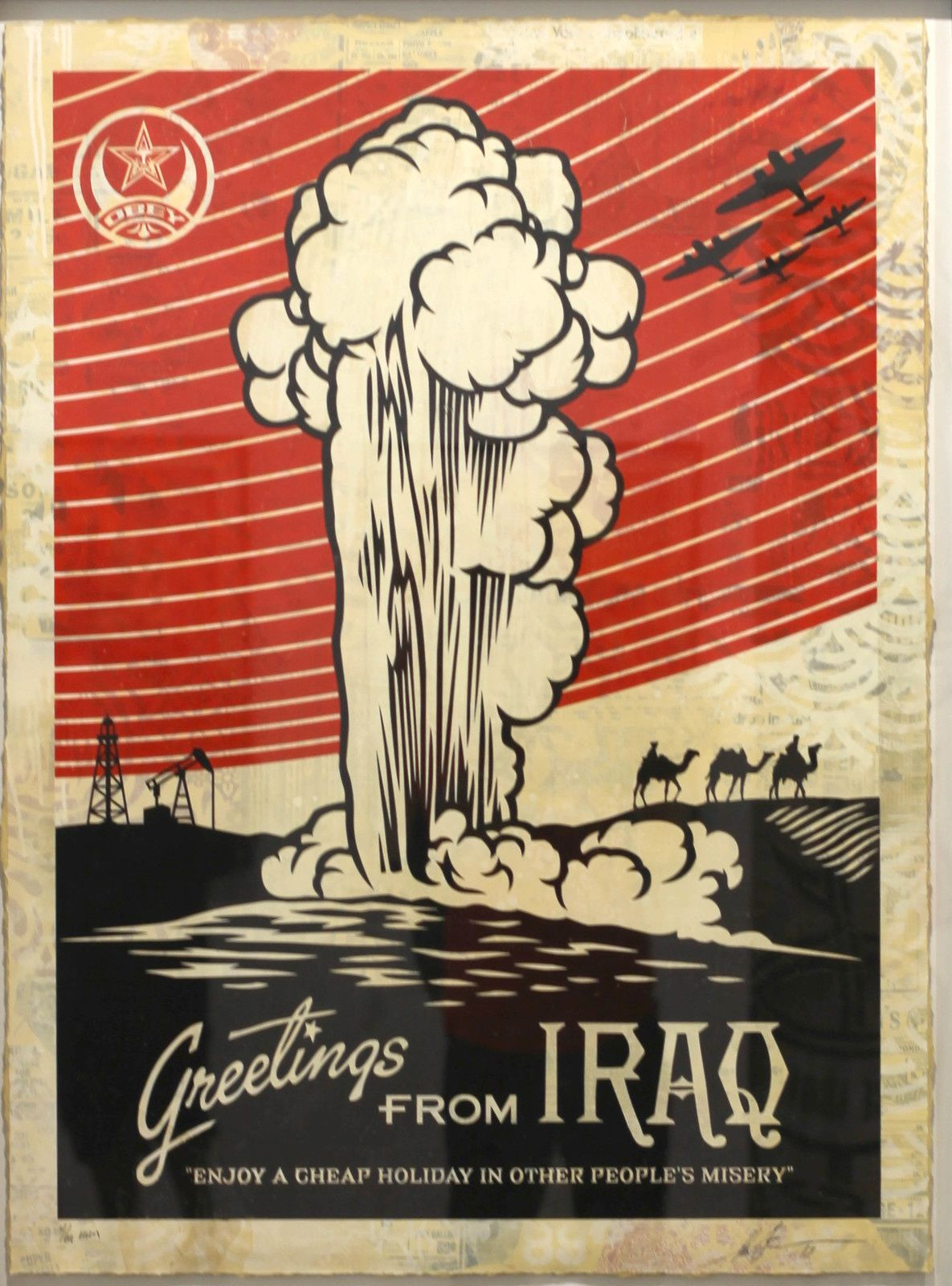 """Greetings from IRAQ"", 2019 de Shepard FAIREY - Courtesy Galerie Itinerrance © Photo Éric Simon"