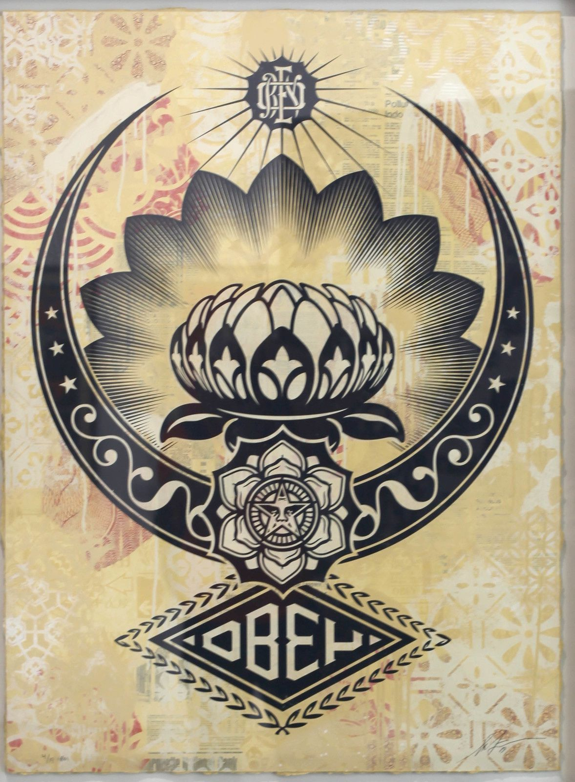 """Lotus Ornament"", 2019 de Shepard FAIREY - Courtesy Galerie Itinerrance © Photo Éric Simon"