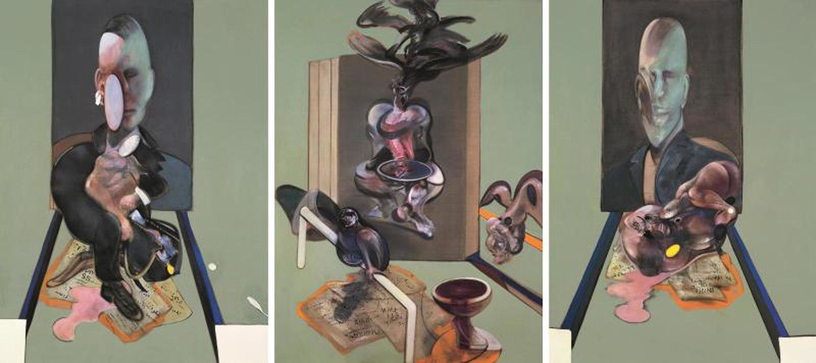 """Triptych"", 1976 de Francis BACON -  The Estate of Francis Bacon. All rights reserved. DACS/Artimage 2019. Photo: Prudence Cuming Associates Ltd"