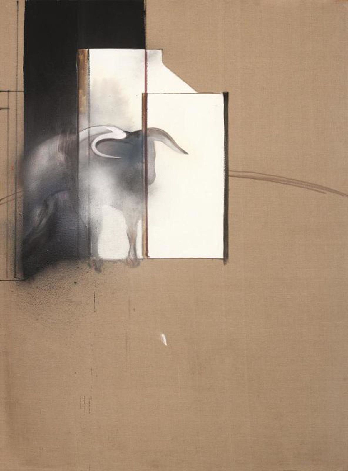 """Study of a Bull"", 1991 de Francis BACON - Collection Agnelli, londres © the estate of Francis bacon /all rights reserved / adagp, paris and dacs, london 2019 © the estate of Francis bacon. all rights reserved. dacs/ artimage 2019. photo: prudence cuming associates ltd"
