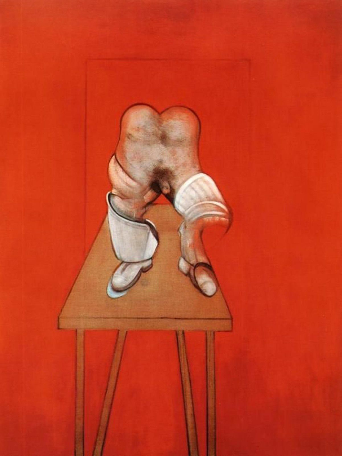 """Diptych Study from the Human Body"", 1982-84 de Francis BACON ; Study of the Human Bodyfrom a Drawing by Ingres 1982"