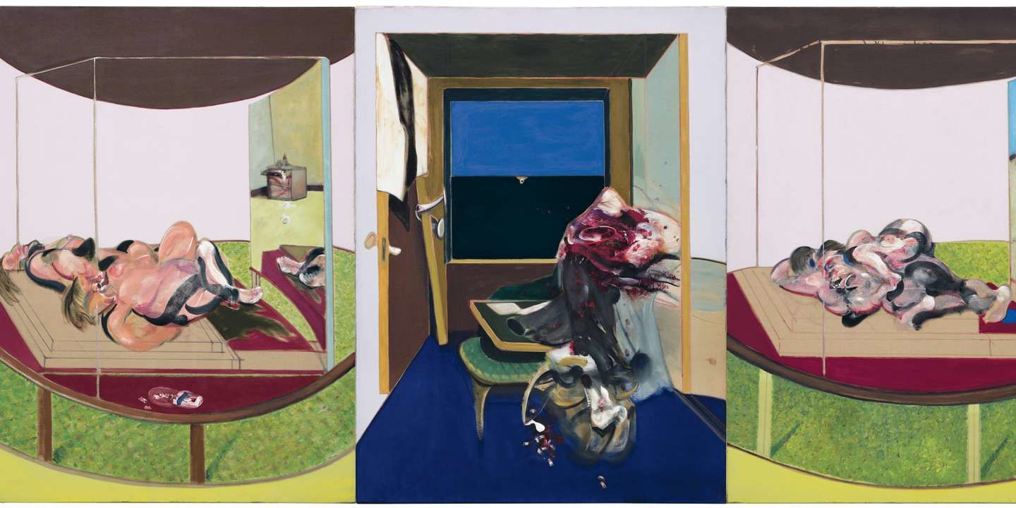 """Triptyque "", 1967 de Francis BACON - THE ESTATE OF FRANCIS BACON   ADAGP PARIS   DACS, LONDON 2019   C. CARVER   HMSC"