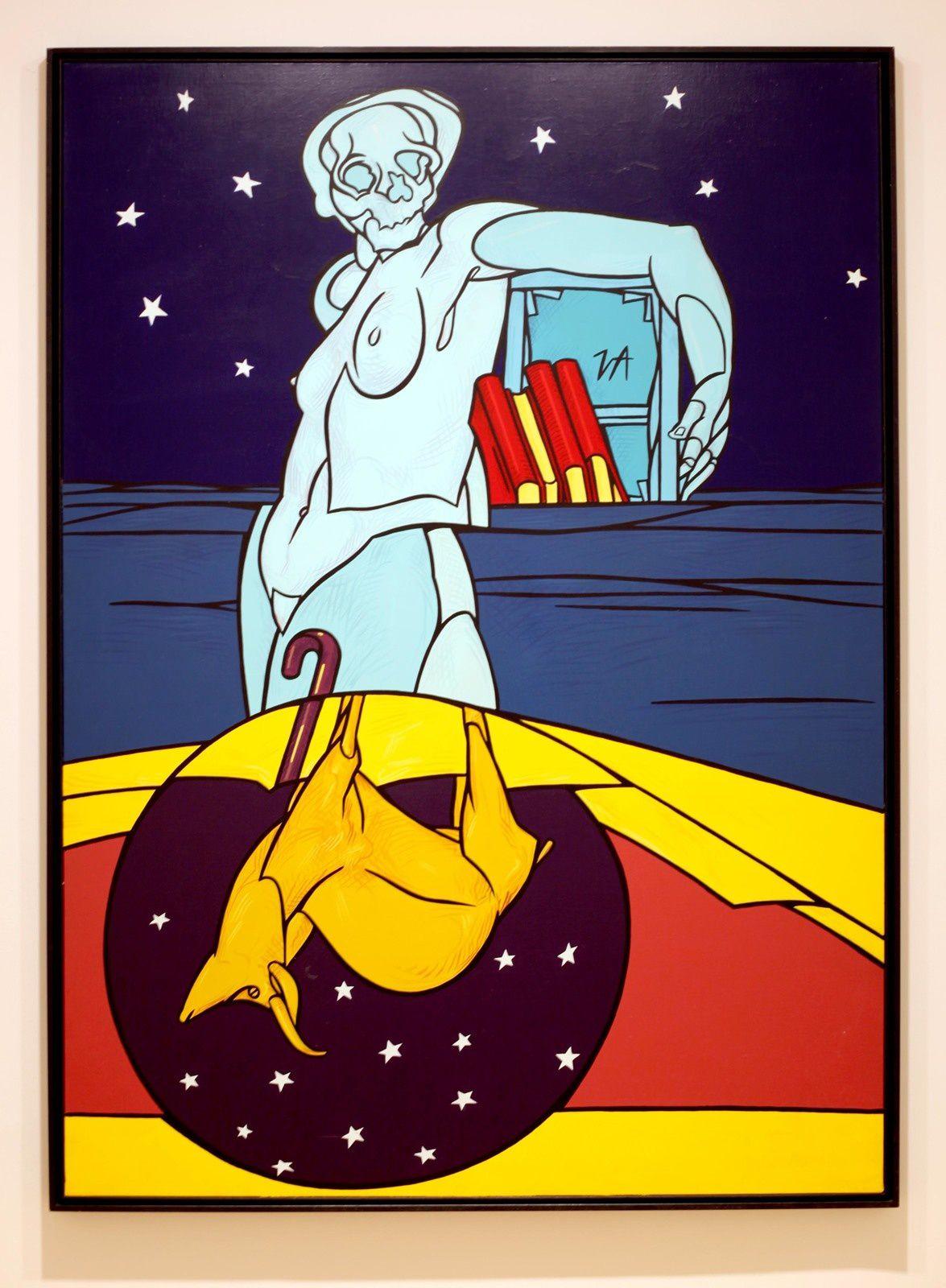 """""""La notte dello stambecco"""", 1988 de Valerio ADAMI - Courtesy Galerie Templon © Photo Éric Simon"""