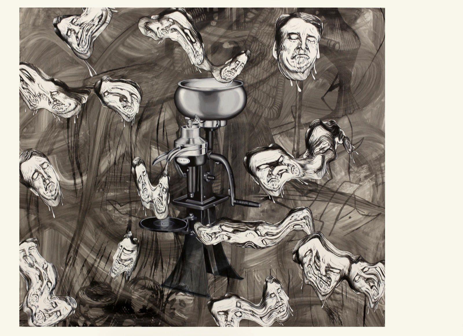 """Milk Separator"", 2019 de Jim SHAW - Courtesy Galerie Praz-Delavallade © Photo Éric Simon"
