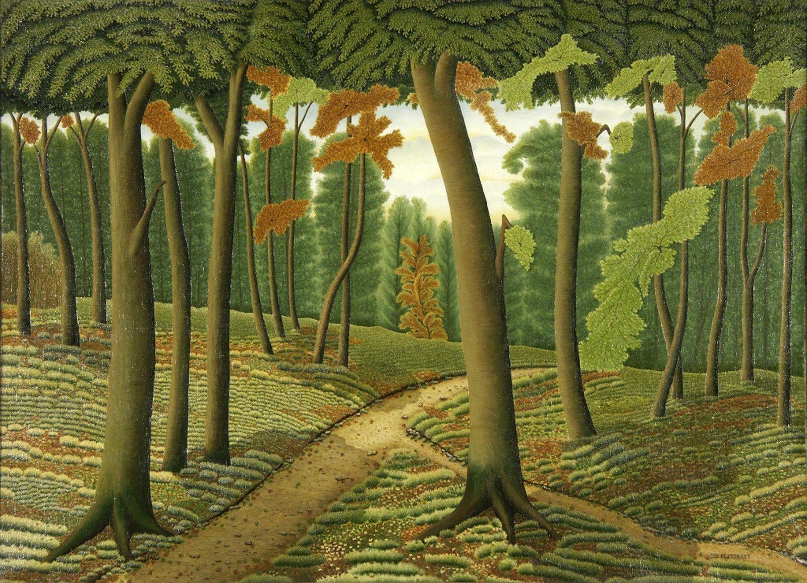 """""""La Forêt"""", non daté de Dominique PEYRONNET - Collection du Musée International d'Art Naïf Anatole Jakovsky – Nice, © Ville de Nice"""