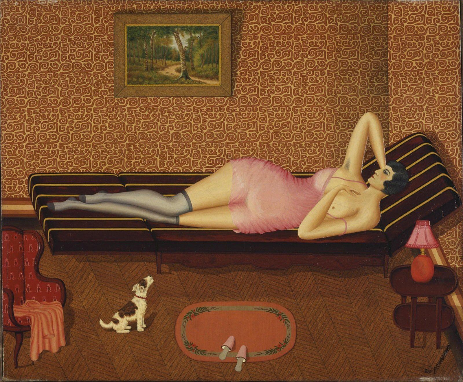 """""""Sieste estivale"""", 1933, de Dominique PEYRONNET - Musée d'Art et d'Archéologie, Senlis Photo © Centre Pompidou, MNAM-CCI, Dist. RMN-Grand Palais / Jacqueline Hyde"""