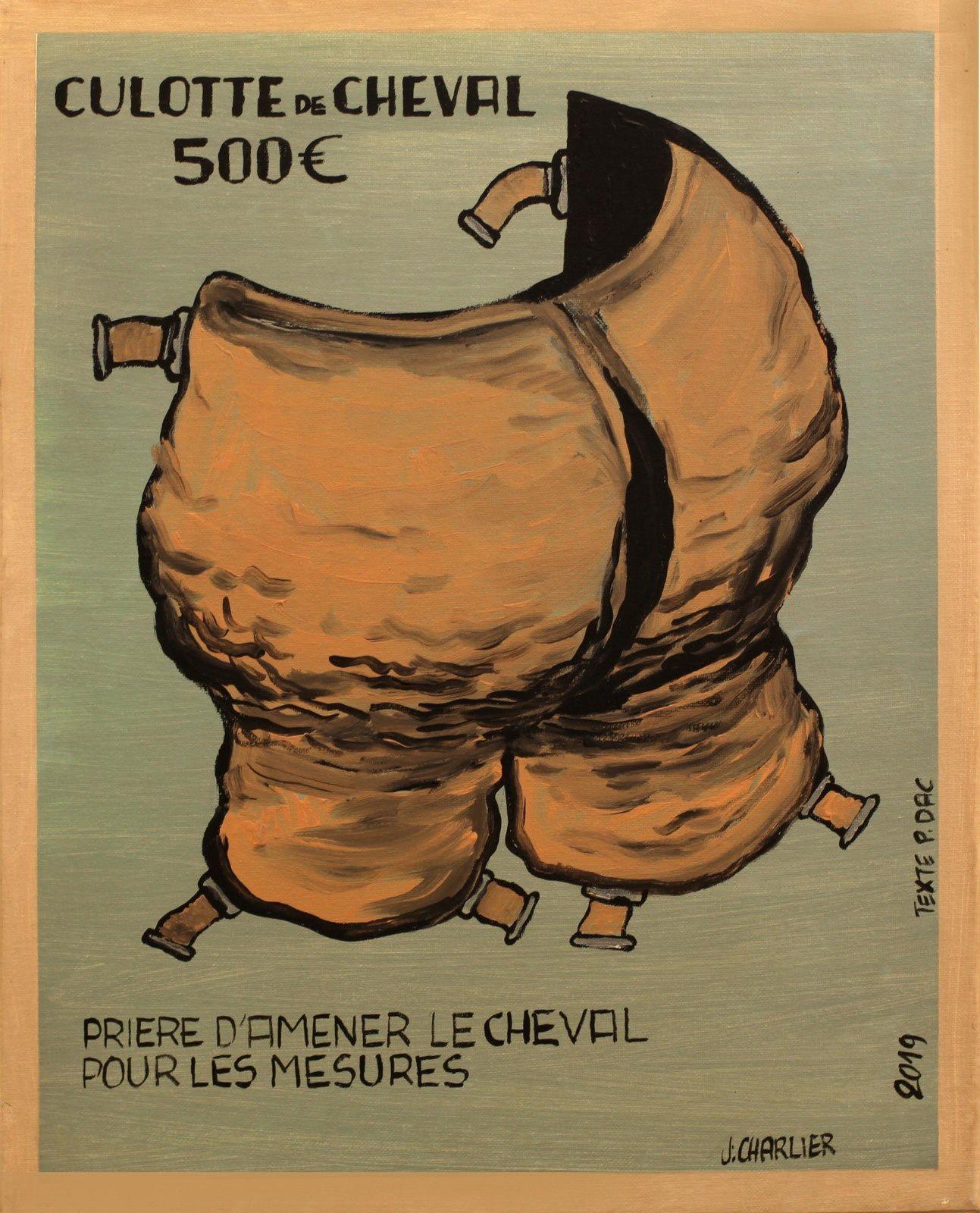 """Série Pierre DAC """"Culotte de cheval"""", 2019 de Jacques CHARLIER - Courtesy Galerie Lara Vincy © Photo Éric Simon"""
