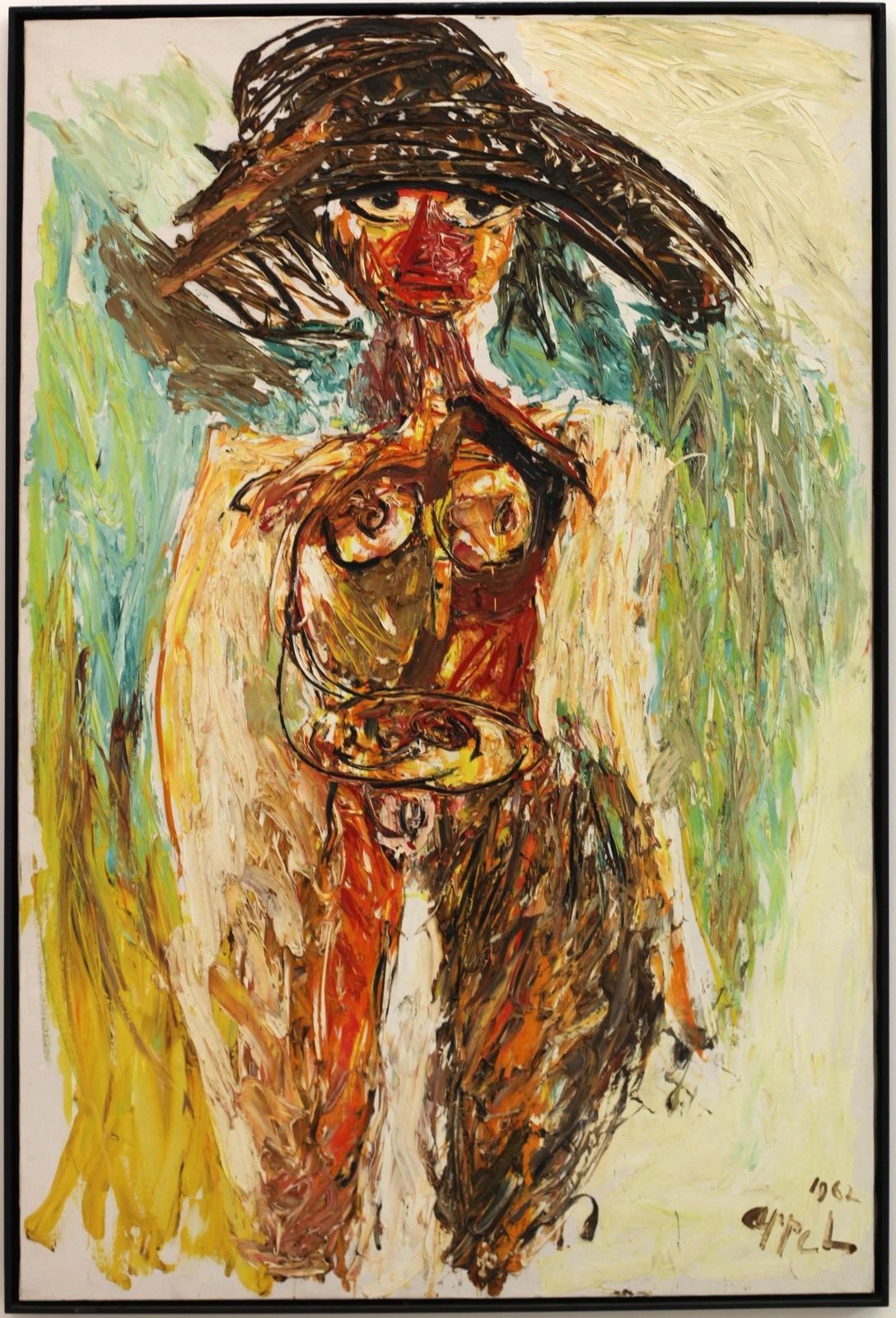 """Machteld (Nude series)"", 1962 de Karel APPEL - Courtesy Galerie Almine Rech © Photo Éric Simon"