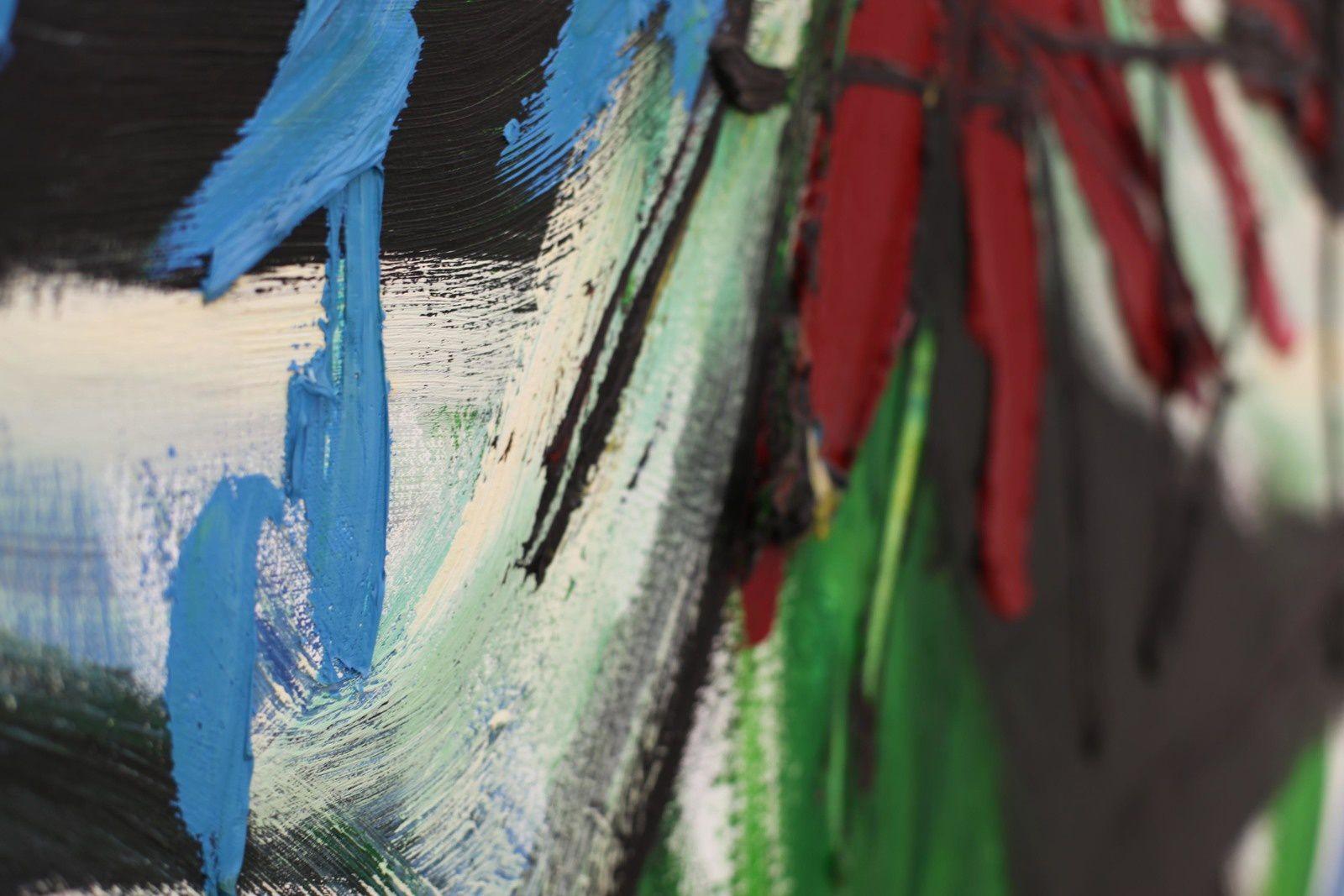 """Détail """"Horizon of Tuscany N°38"""", 1995 de Karel APPEL - Courtesy Galerie Almine Rech © Photo Éric Simon"""