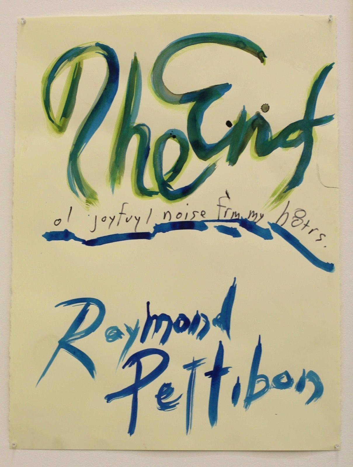 """""""No Title (The End...), 2019 de Raymond PETTIBON - Courtesy de l'artiste et la Galerie David ZWIRNER - Paris © Photo Éric Simon"""