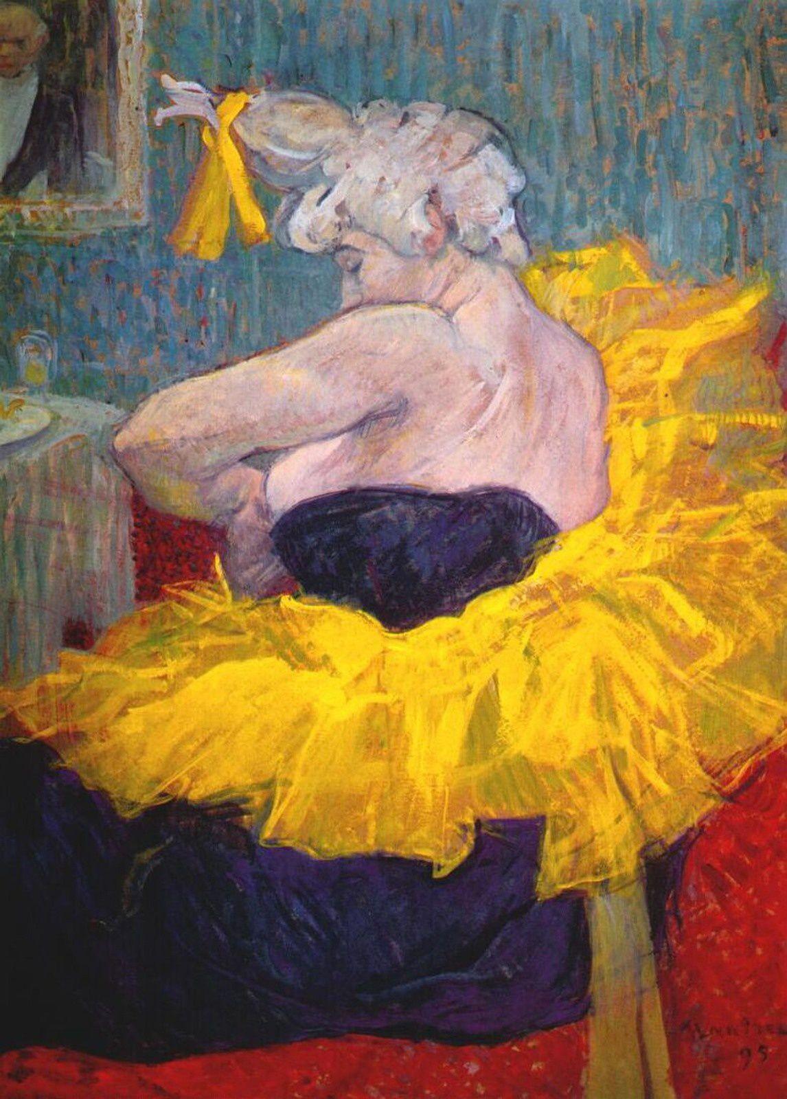 """""""La Clownesse Cha-U-Kao"""", 1895 de Henri de TOULOUSE LAUTREC - Courtesy Musée d'Orsay, Paris"""