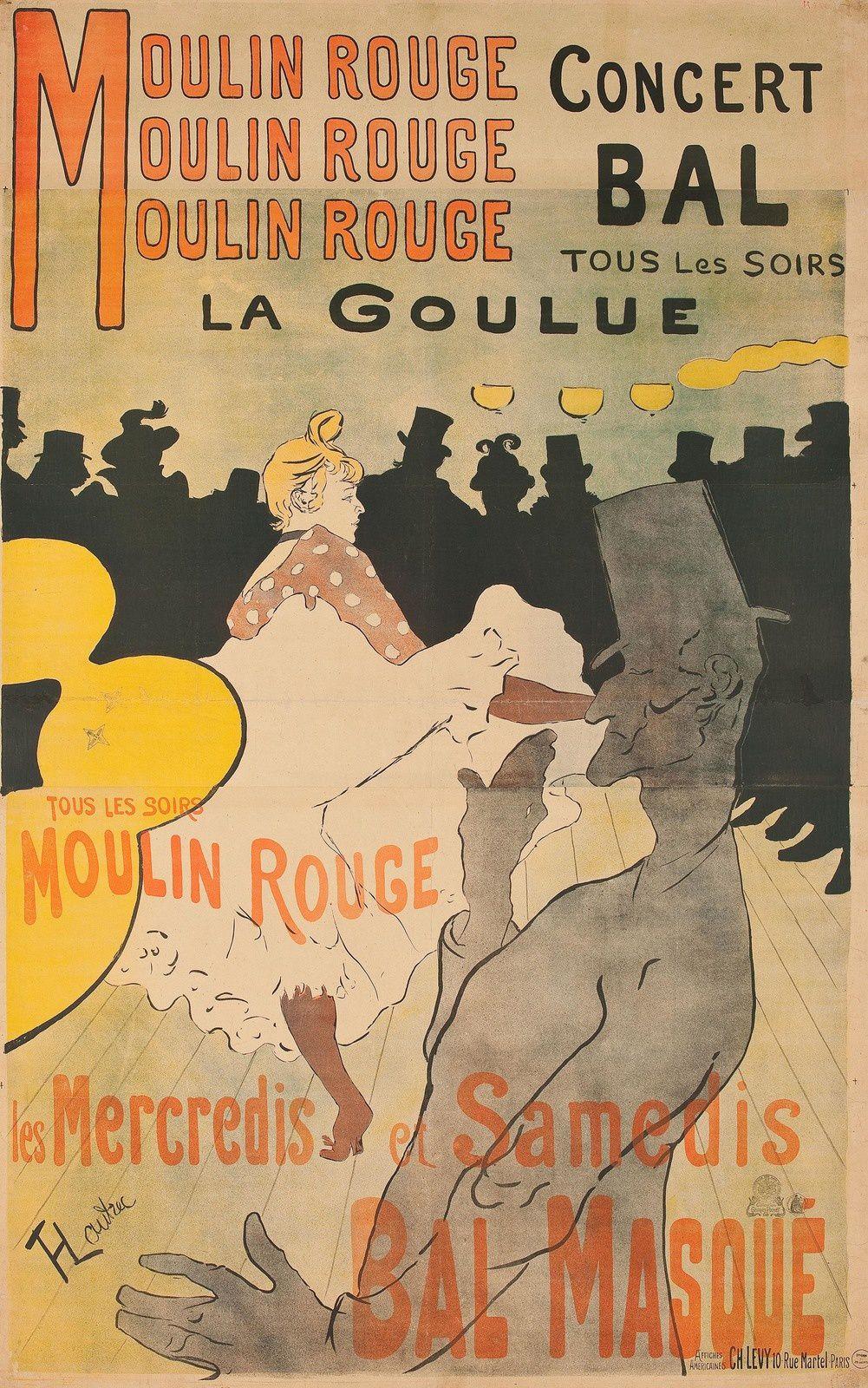 """Affiche """"Concert Bal tous les soir - La Goulue"""", 1891 de Henri de TOULOUSE-LAUTREC"""