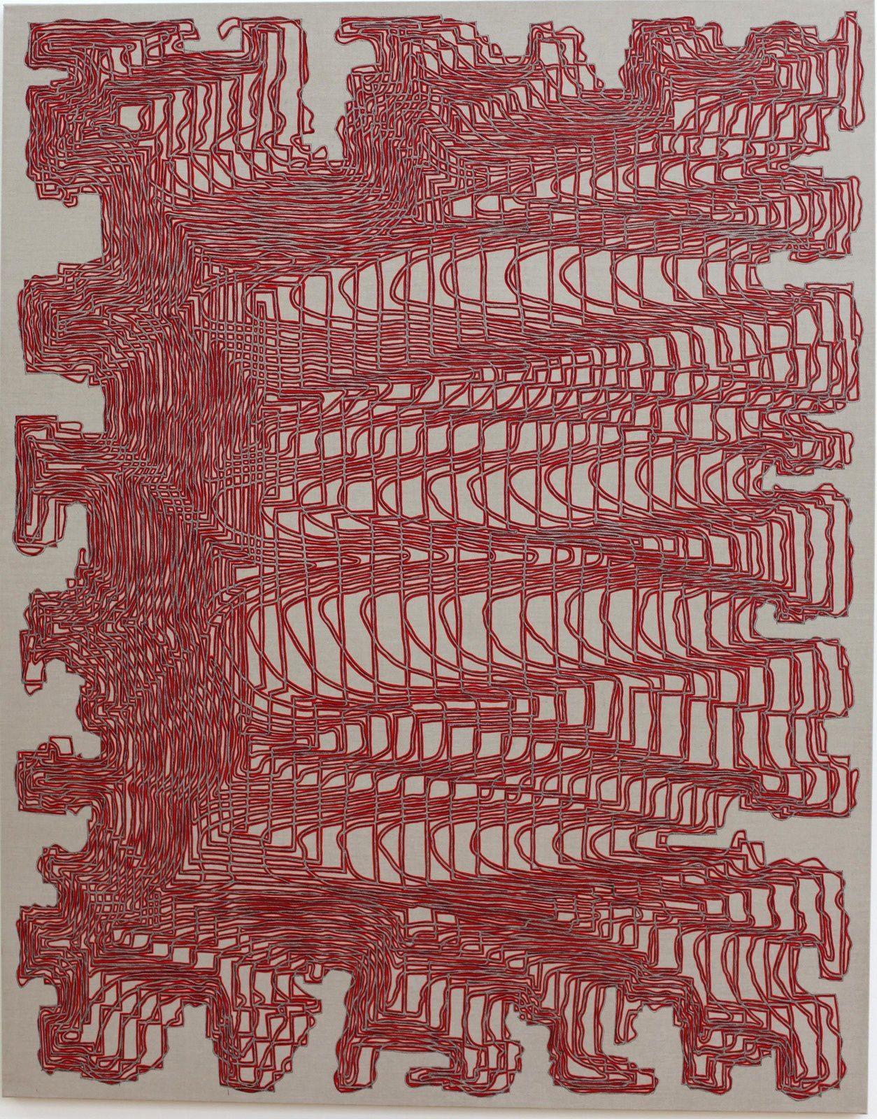 """TYCLOICTRADN"", 2019 de James SIENA - Courtesy de l'Artiste et la Galerie Xippas  Photo Éric Simon"