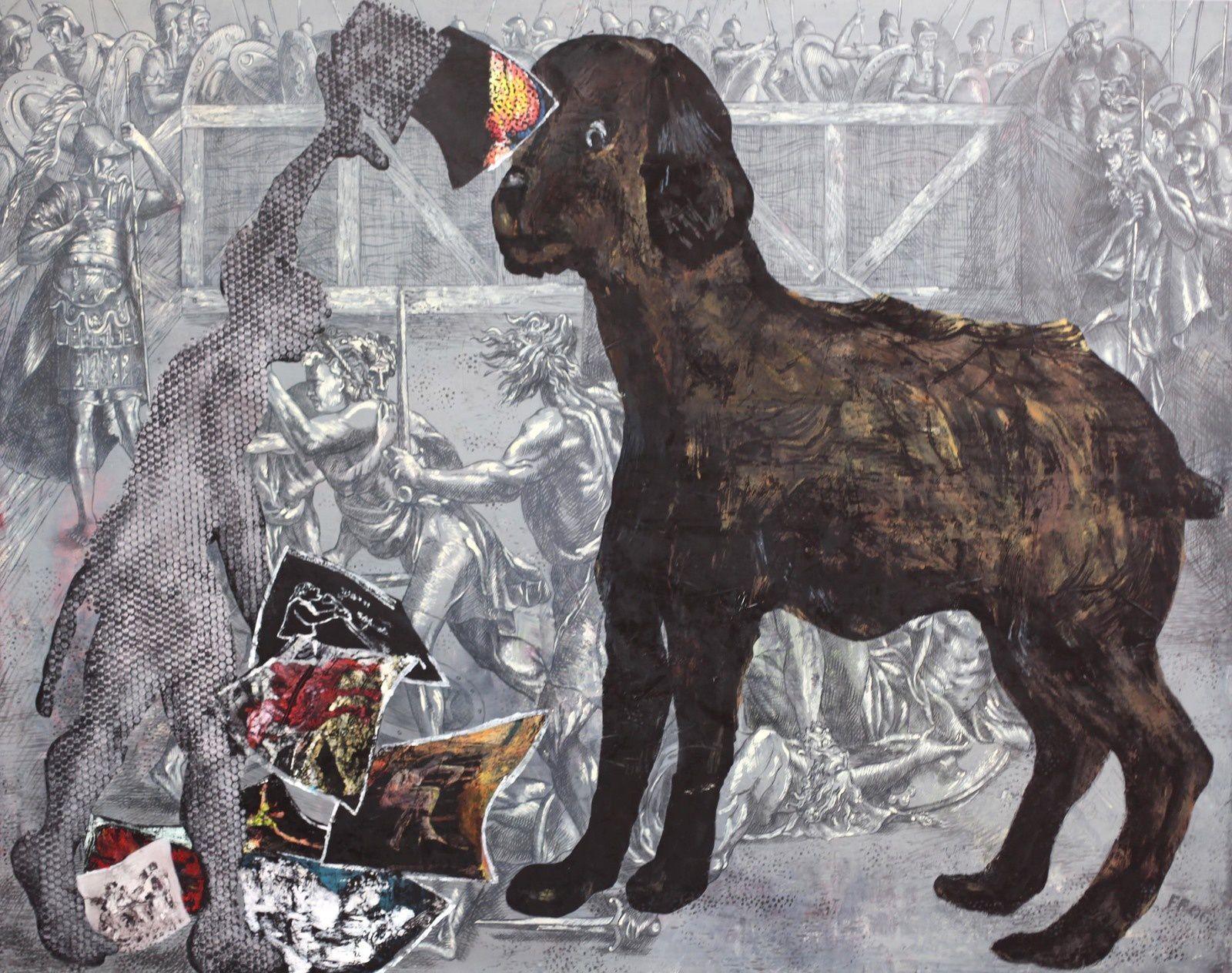 """Ohne Titel"", 2006 de Jörg IMMENDORFF - Courtesy Galerie Suzanne TARASIEVE © Photo Éric Simon"