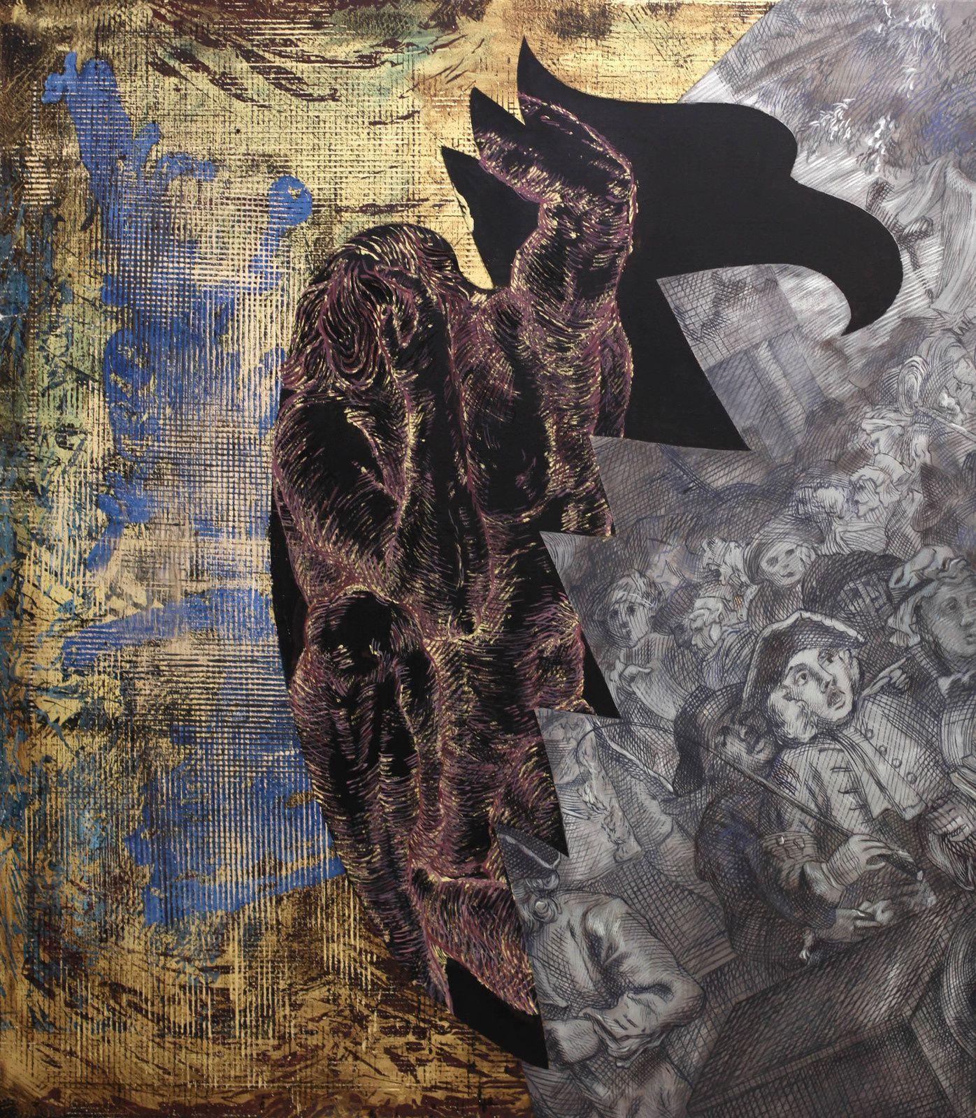 """Ohne Titel"", 2007 de Jörg IMMENDORFF - Courtesy Galerie Suzanne TARASIEVE © Photo Éric Simon"