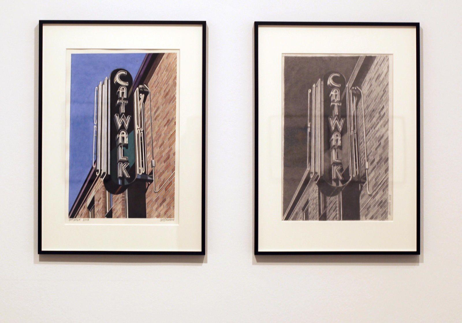 """""""Catwalk"""", 2018 et """"Catwalk"""", 2018 de Robert COTTINGHAM - Courtesy Galerie Georges-Philippe & Nathalie Vallois © Photo Éric Simon"""