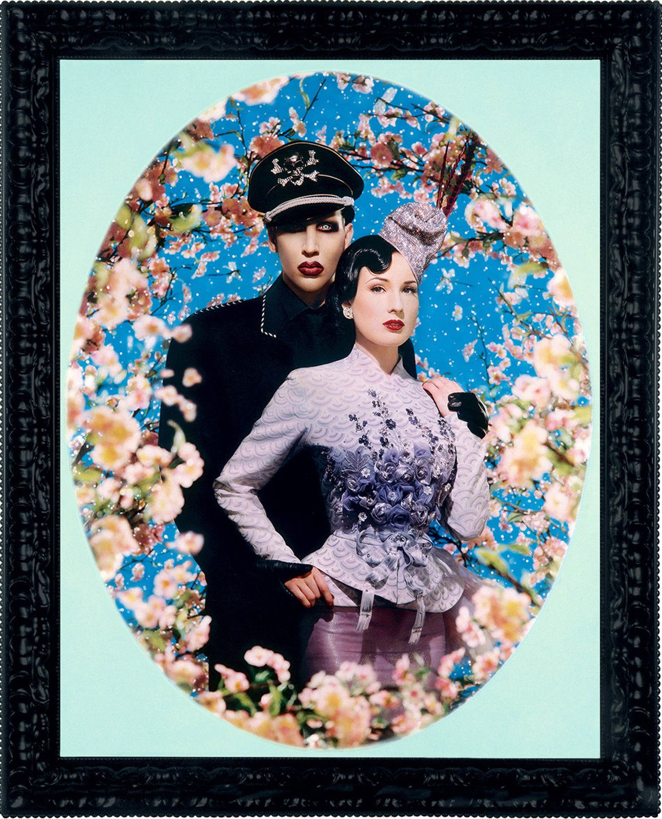 """Le grand amour, Marilyn Manson et Dita Von Teese "", 2004 de PIERRE et GILLES - Courtesy Pinault Collection, Courtesy Noirmonartproduction"