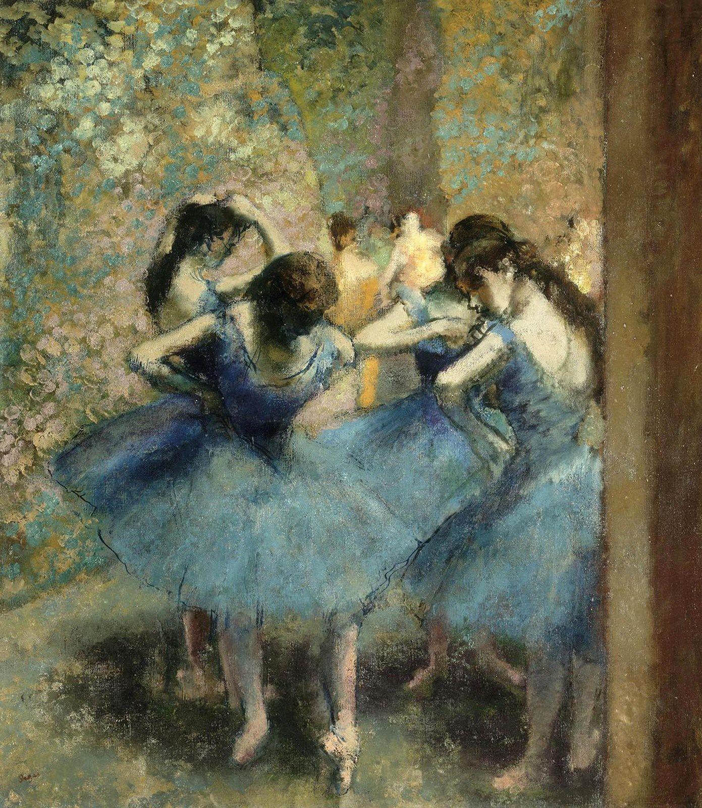 """""""Danseurs bleu"""", 1890 d'Edgar Degas - Courtesy Musée d'Orsay, Paris"""