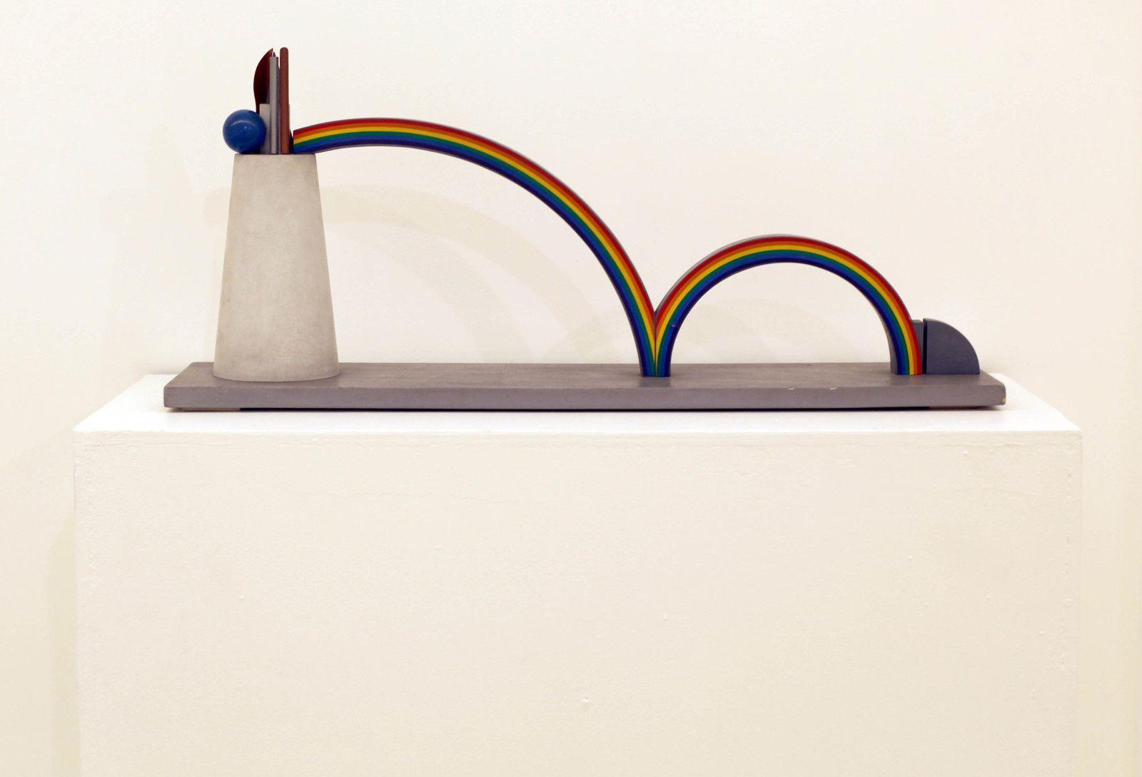 """""""Studio  per cancello liceo Dijone con due arcobeleni"""", 1970 de Lucio DEL PEZZO - Courtesy Galerie Italienne © Photo Éric Simon"""
