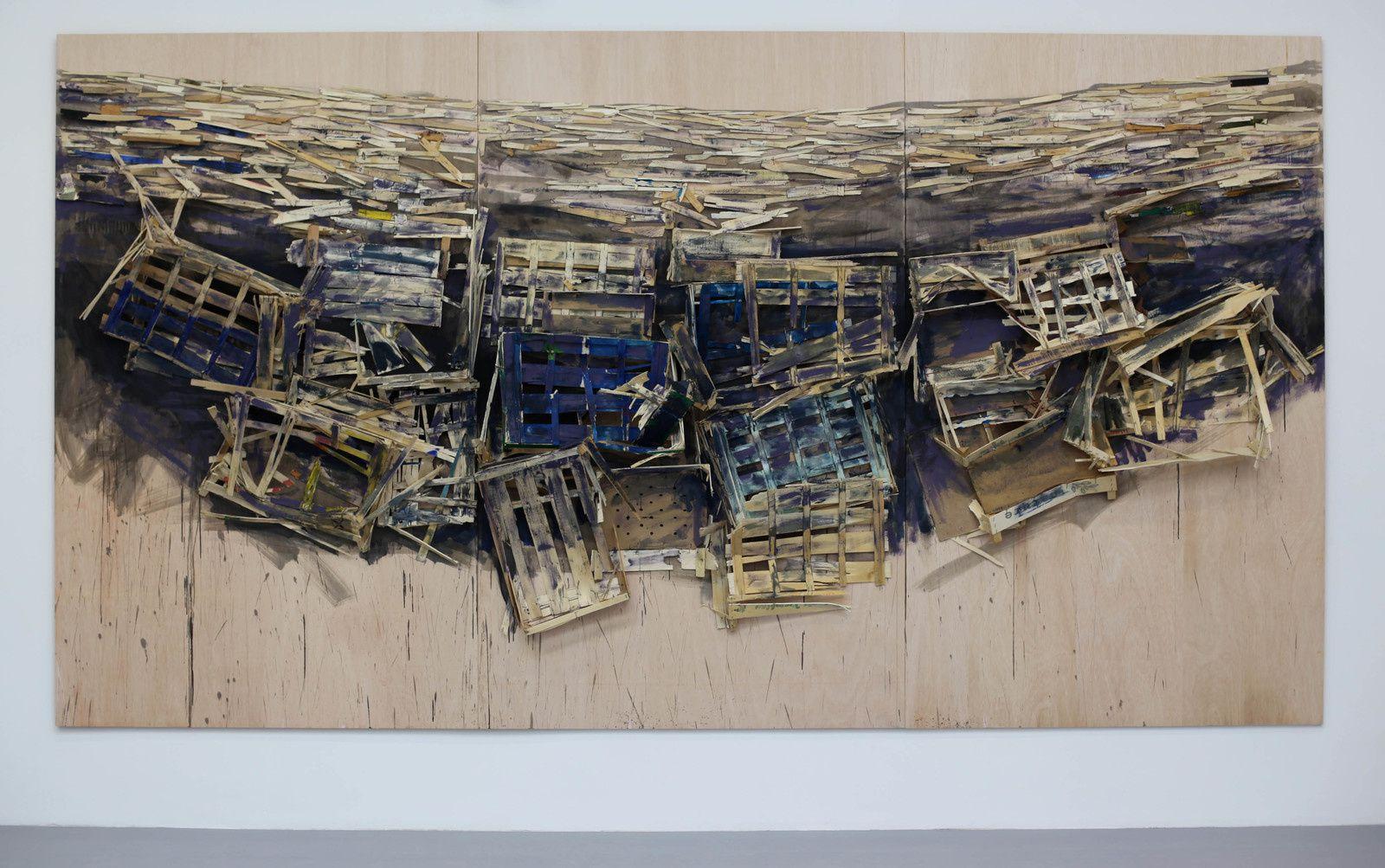 """""""Destruction """", 2019 de Tadashi KAWAMATA - Courtesy de l'artiste et la galerie Kamel Mennour © Photo Éric Simon"""