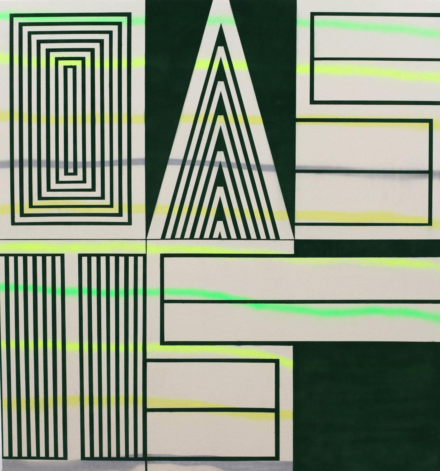 """""""Green Oasis"""", 2019 de John Philip ABBOTT - Courtesy de l'artiste et de la Galerie XIPPAS PARIS © Photo Éric Simon"""