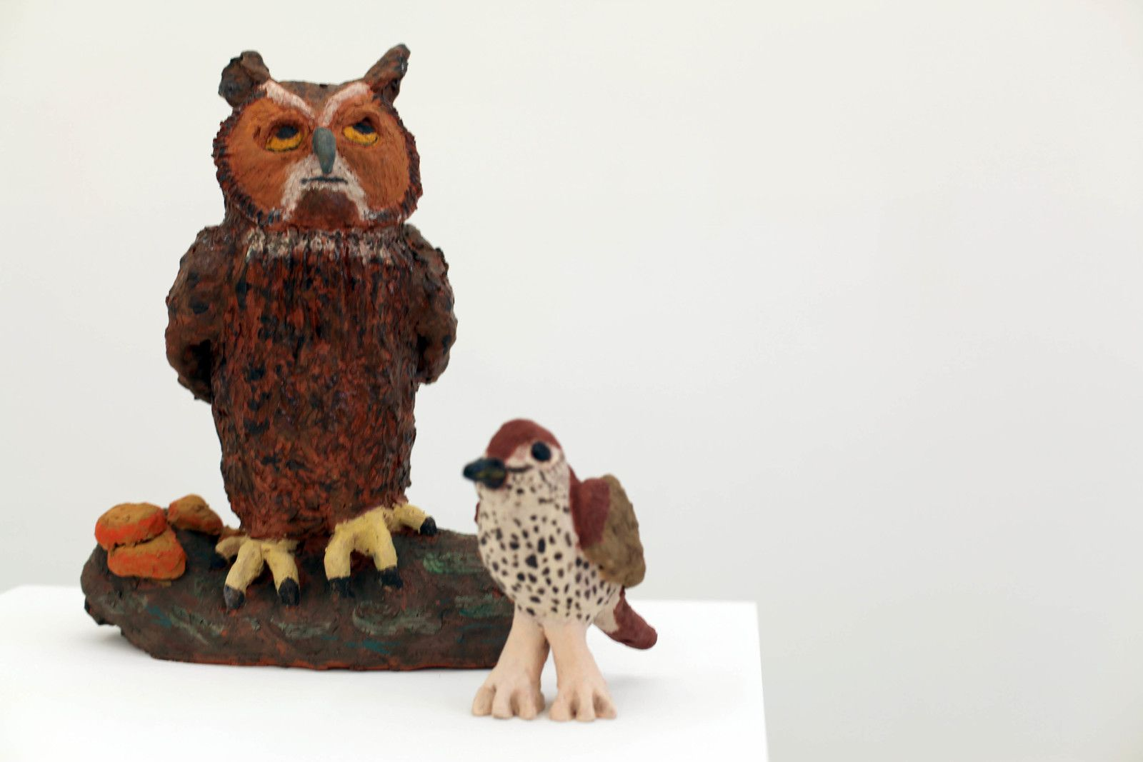 """Owl and Thrush"", 2019 de Sally SAUL - Courtesy de la Galerie Almine RECH © Photo Éric Simon"