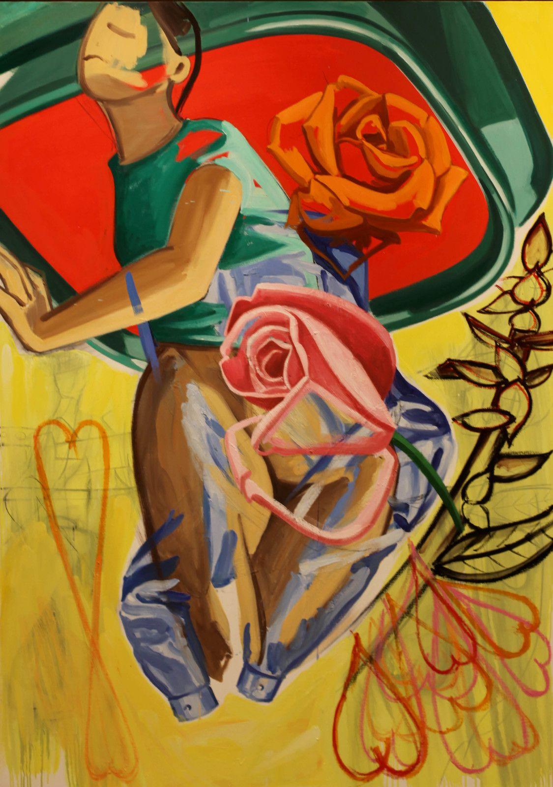 """""""Re-Bloom"""", 2019 de David SALLE - Courtesy de la Galerie Thaddaeus Ropac © Photo Éric Simon"""