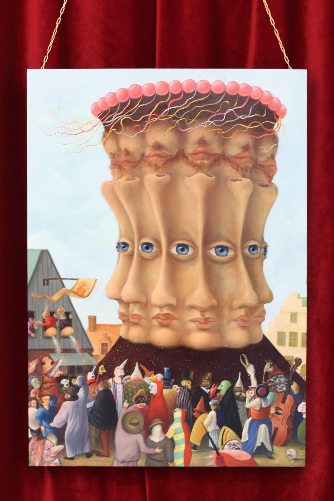 """""""La grande tête, série Carnavals"""", 2019 de Antoine ROEGIERS - Courtesy de l'artiste et de la Galerie Suzanne TARASIEVE © Photo Éric Simon"""