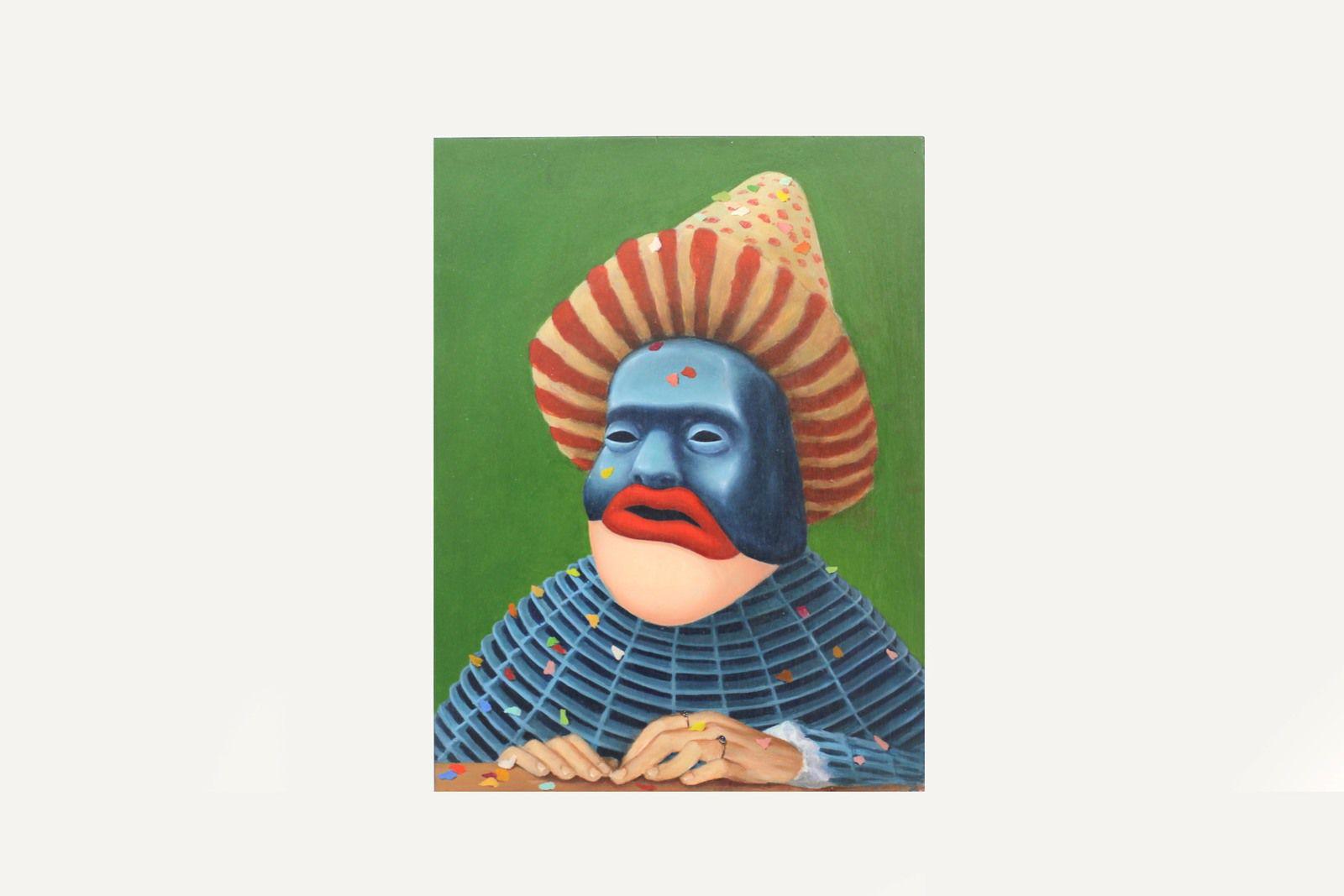"""""""L'homme au masque de fer, série Carnavals"""", 2019 de Antoine ROEGIERS - Courtesy de l'artiste et de la Galerie Suzanne TARASIEVE © Photo Éric Simon"""