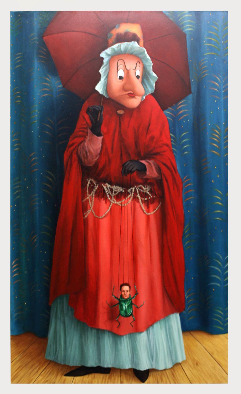 """""""Personnage à la marionnette, série Carnavals"""", 2019 de Antoine ROEGIERS - Courtesy de l'artiste et de la Galerie Suzanne TARASIEVE © Photo Éric Simon"""