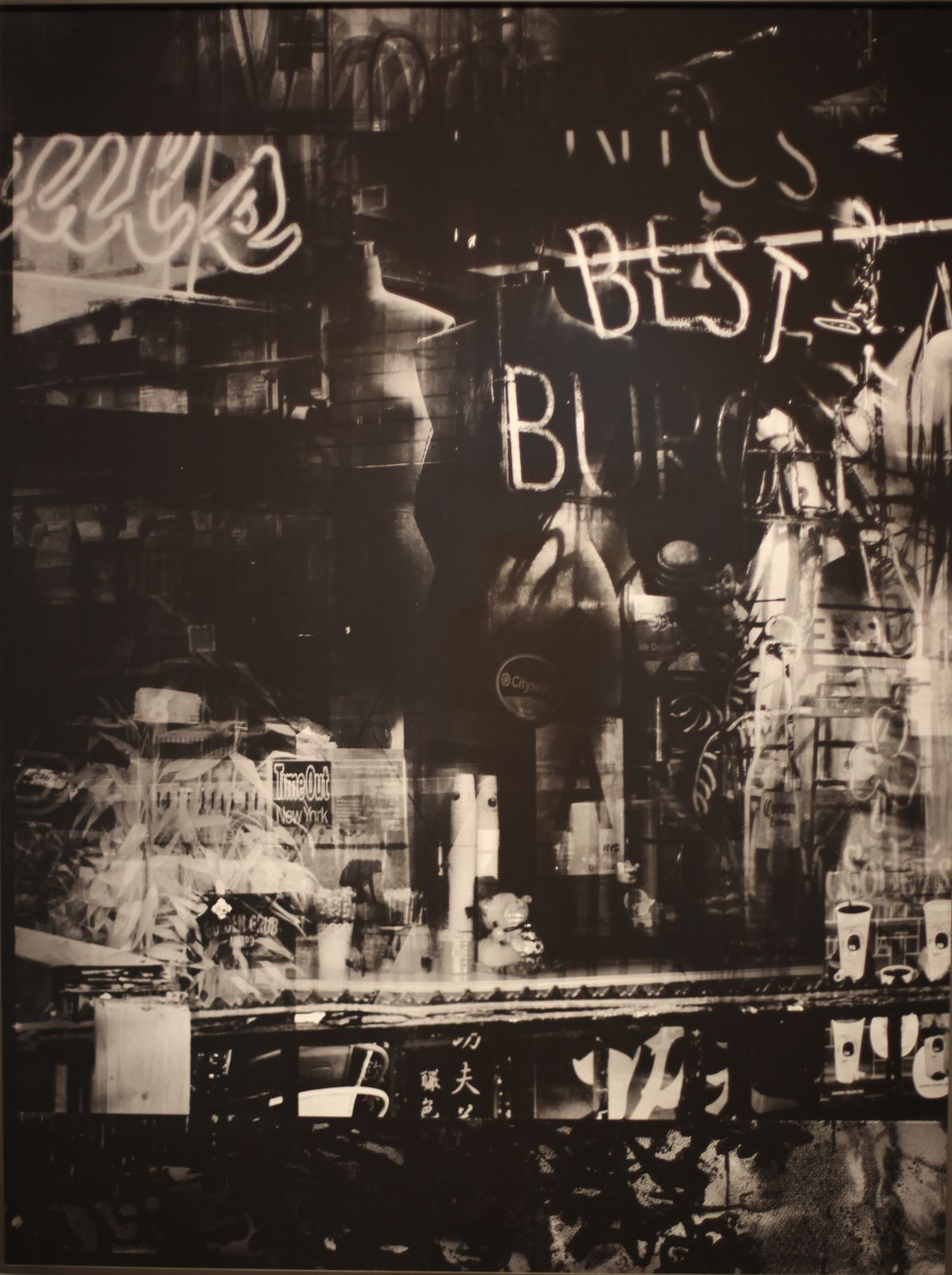 """Beltline Burgers, Atlanta (Reflection)"", 2019 de Valerie BELIN - Courtesy de la galerie Nathalie Obadia © Photo Éric Simon"