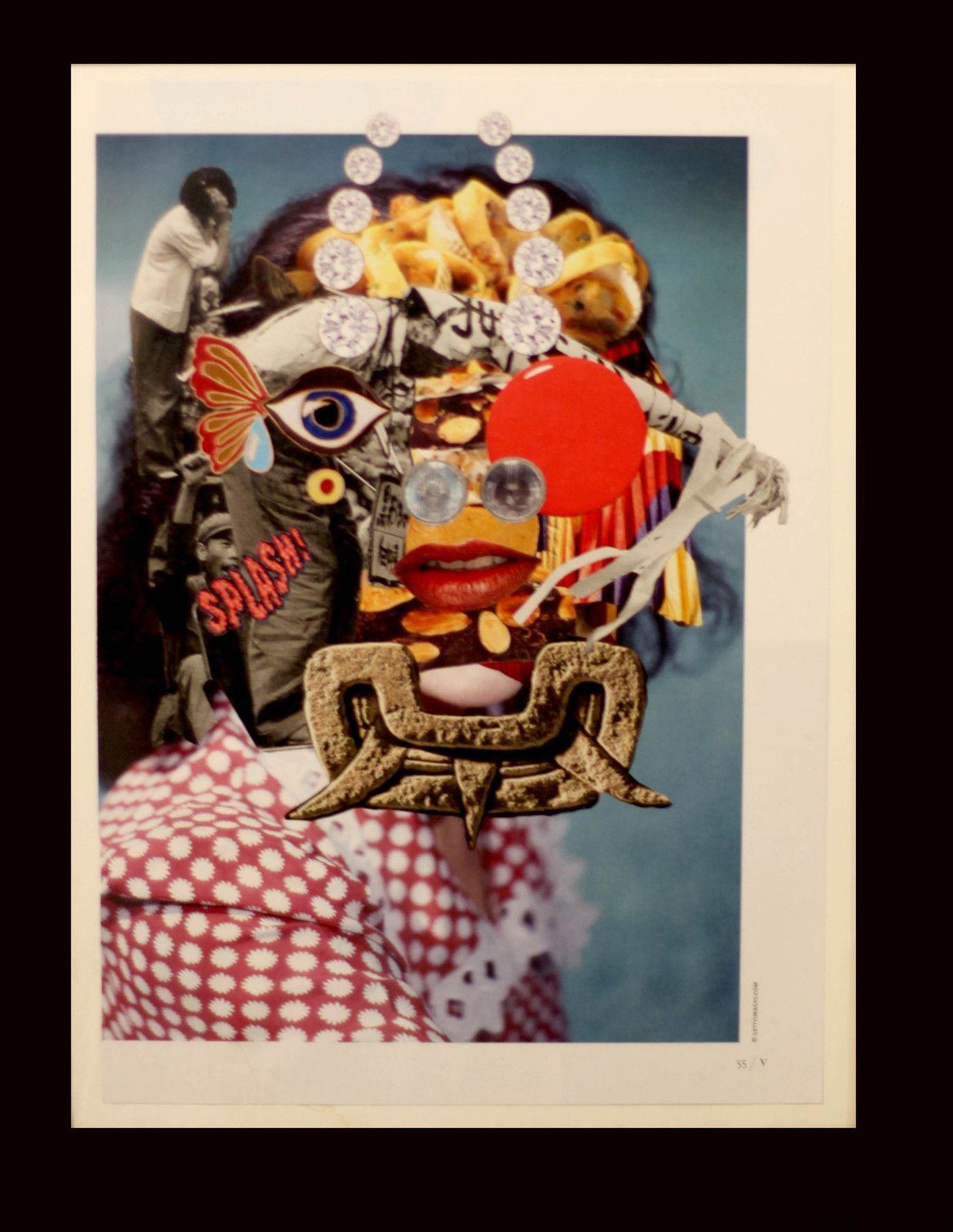 "Collage ""Sans Titre"", 2019 de César VALERA MARTIN A.K.A. Cless - Courtesy Arts Factory © Photo Éric Simon"