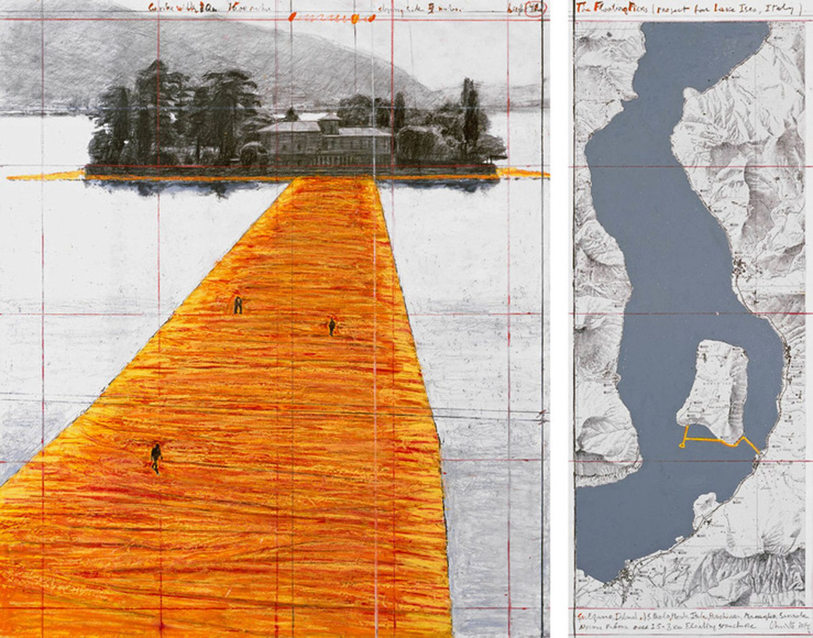 """""""The Floating Piers - Collage"""", 2014 de CHRISTO"""