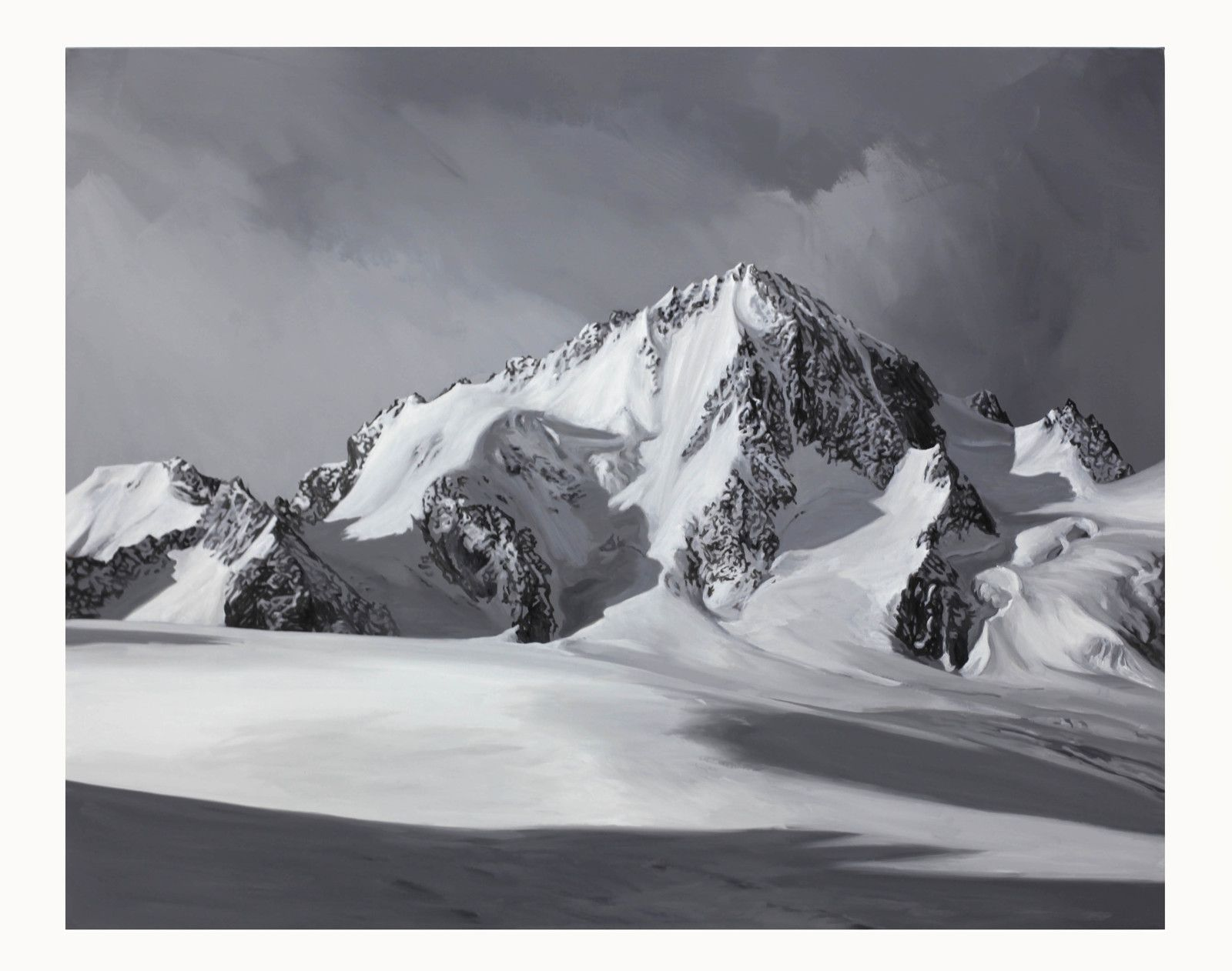 """Mont-Blanc 7"", 2018 de Hervé HEUZÉ - Courtesy Galerie RICHARD - PARIS © Photo Éric Simon"