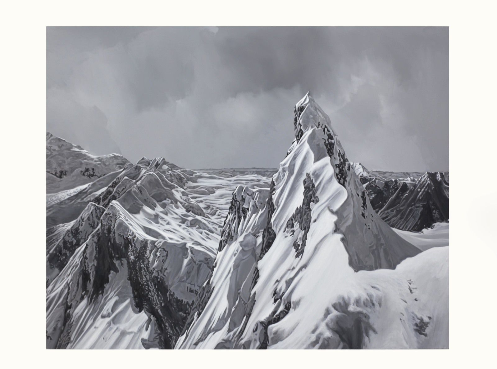 """Mont-Blanc 5"", 2018 de Hervé HEUZÉ - Courtesy Galerie RICHARD - PARIS © Photo Éric Simon"