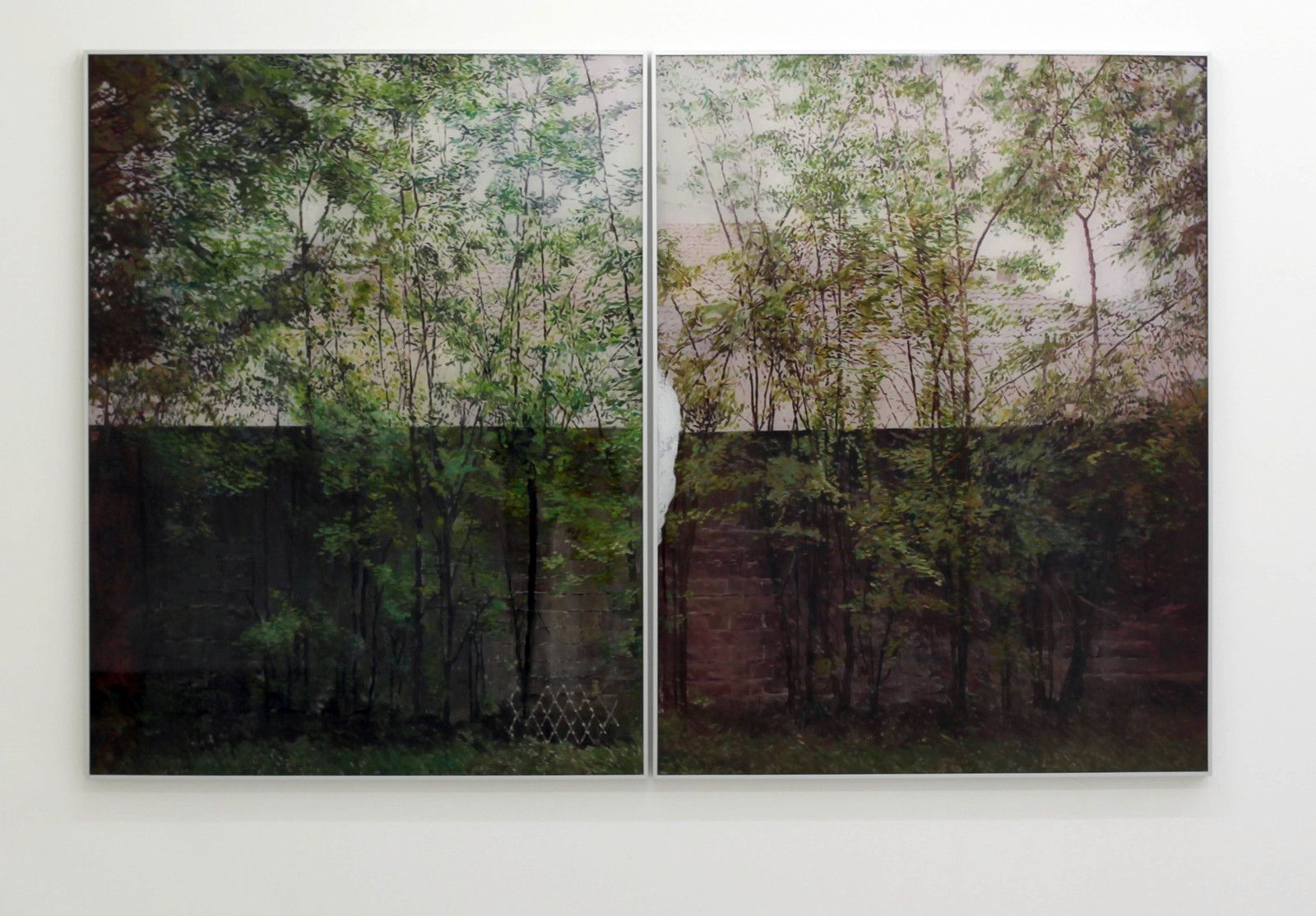 """Neighborhood (Diptych)"", 2019 de Gil Heitor CORTESÃO - Courtesy Galerie Suzanne TARASIEVE © Photo Éric Simon"