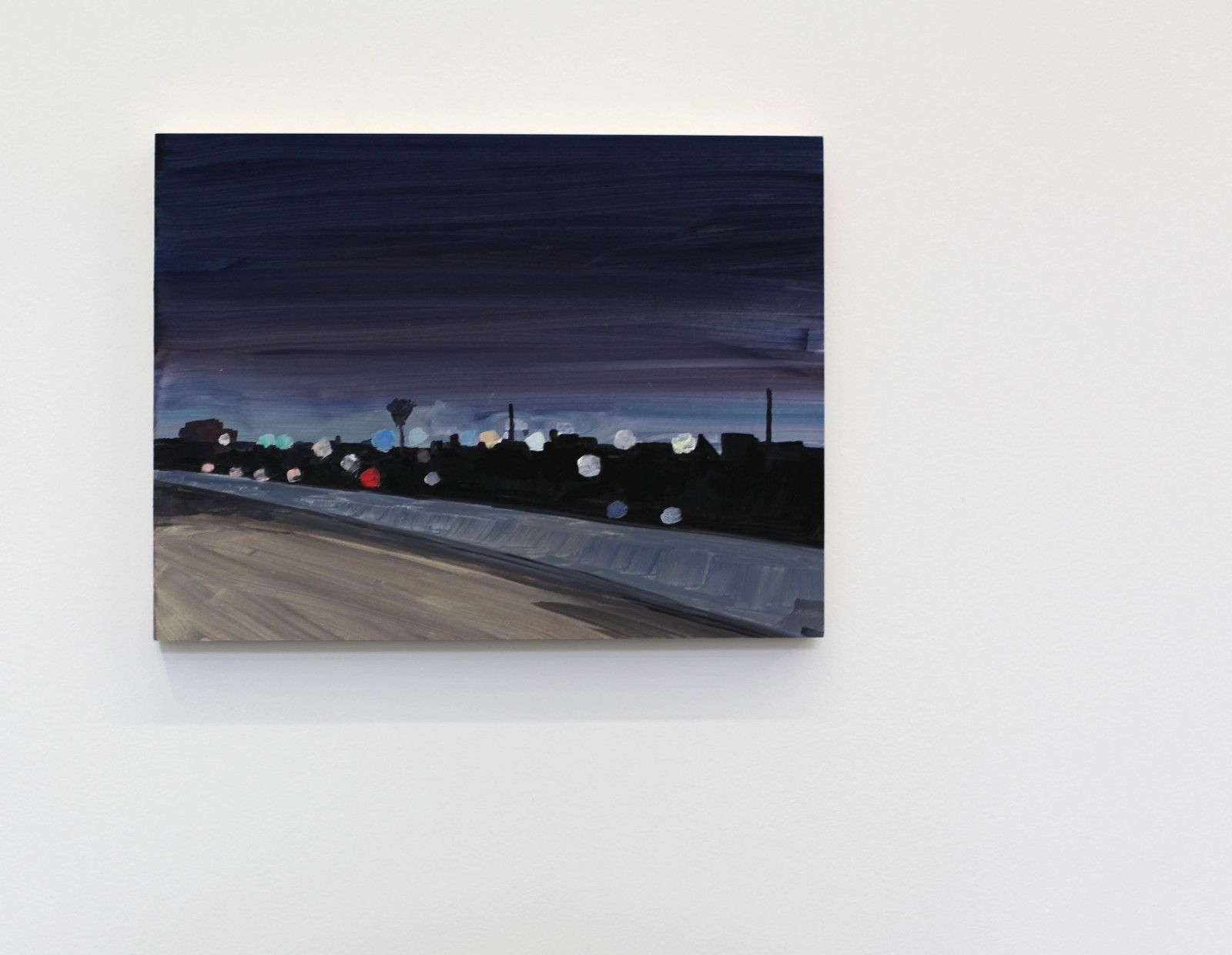 """Highway night"", 2019 de Jean Philippe DELHOMME - Courtesy Galerie Perrotin © Photo Éric Simon"