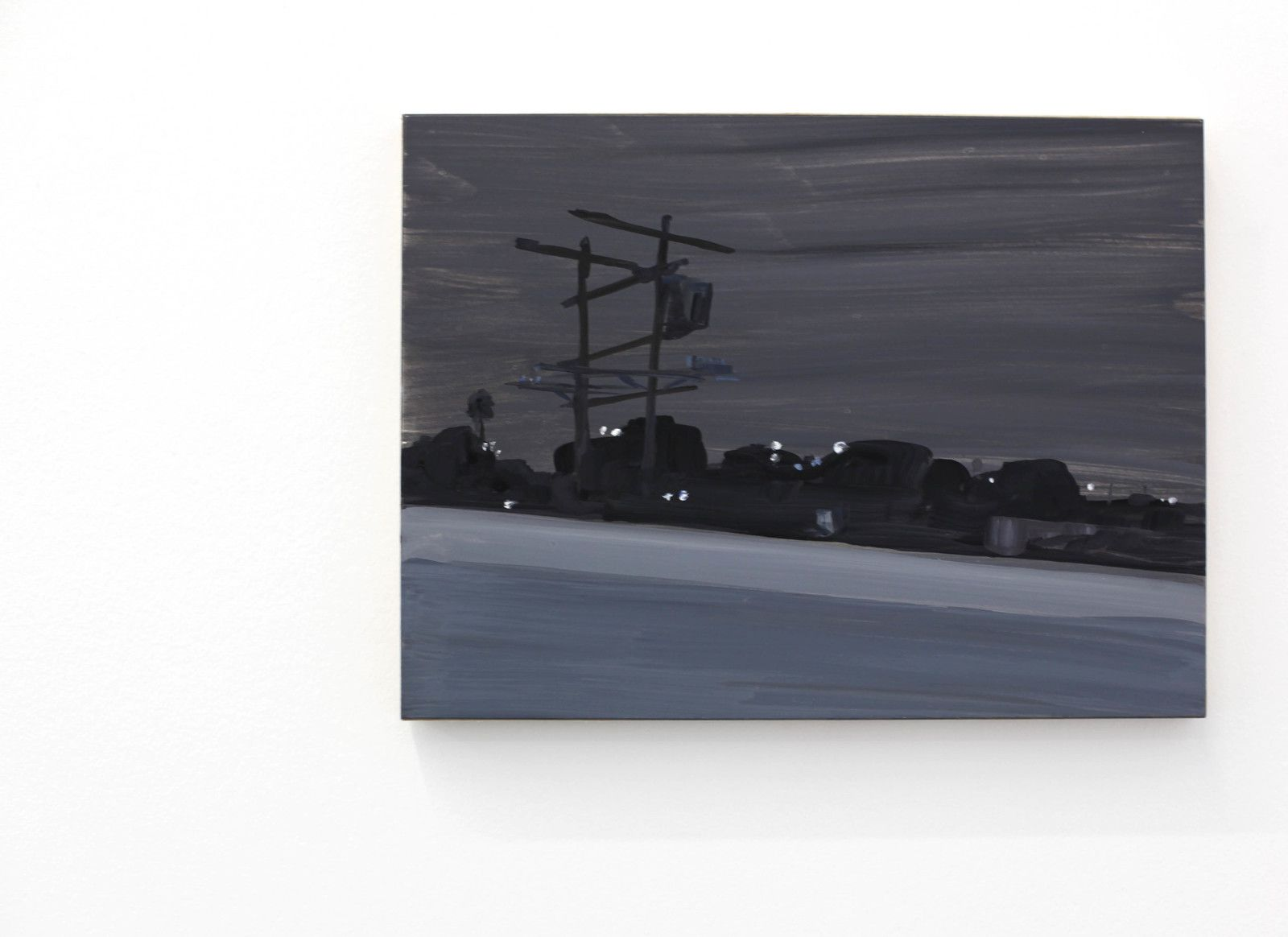 """Highway night #7"", 2019 de Jean Philippe DELHOMME - Courtesy Galerie Perrotin © Photo Éric Simon"
