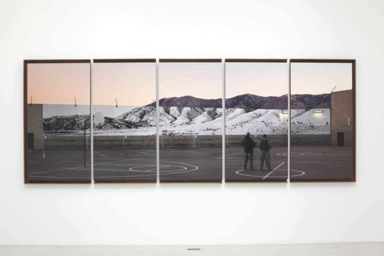 """Tehachapi, Mountain, U.S.A."", 2019 de JR - Courtesy Galerie Perrotin © Photo Éric Simon"