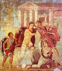 fresque romaine de la Casa di Marco Lucrezio Frontone, Pompéi.