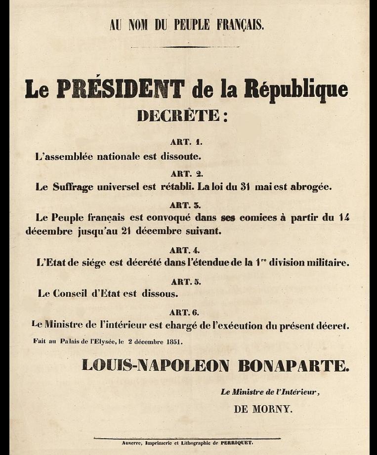 coup débat, Napoléon III, George Sand, désillusion