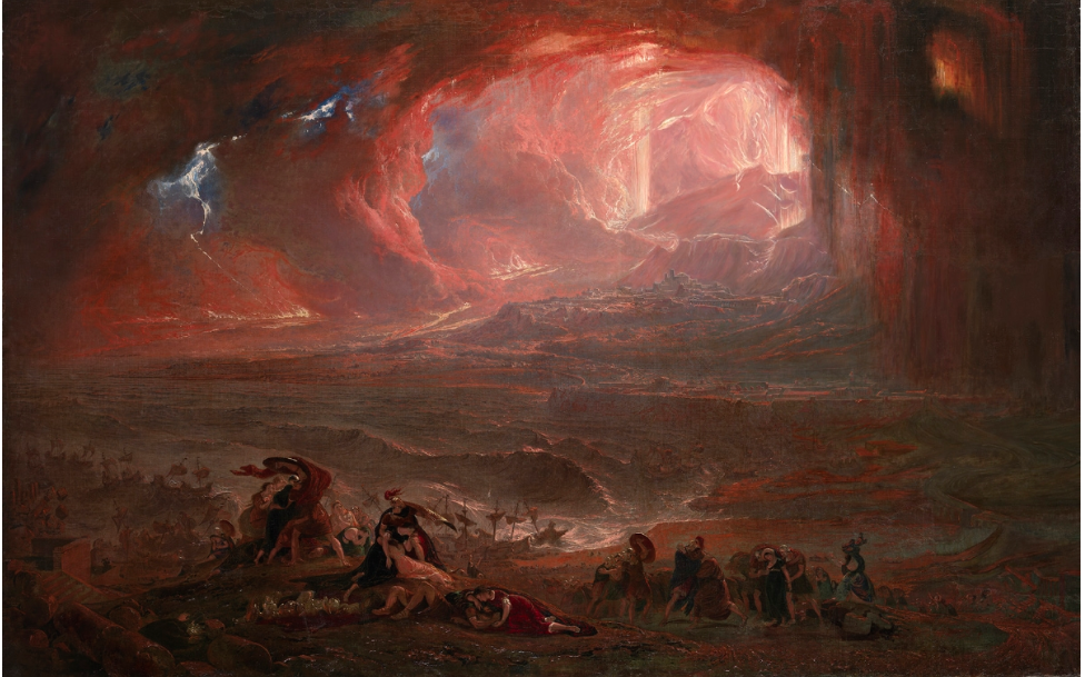 John Martin, la destruction de Pompéi