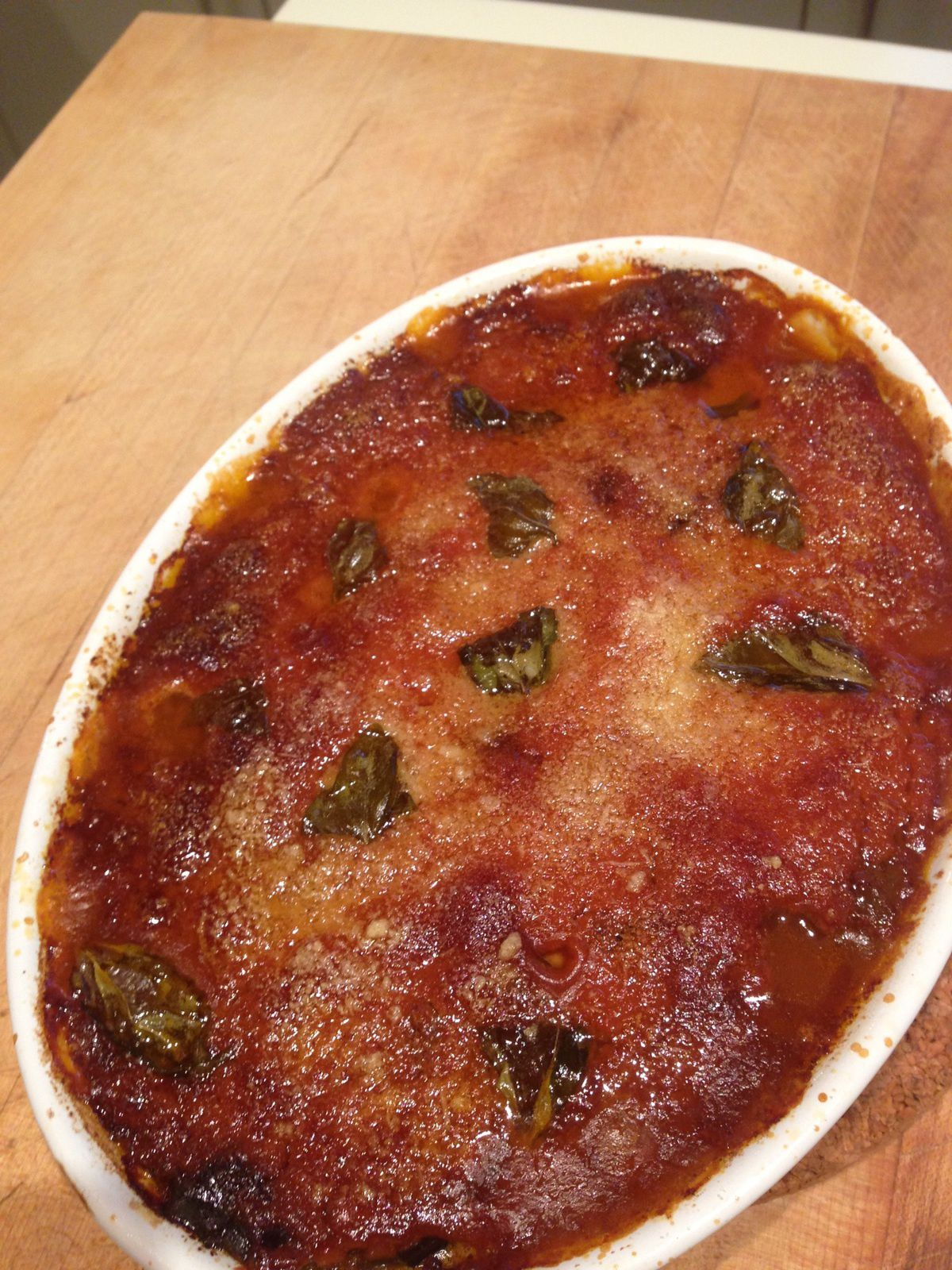 Melanzane alla parmigiana : aubergines au parmesan