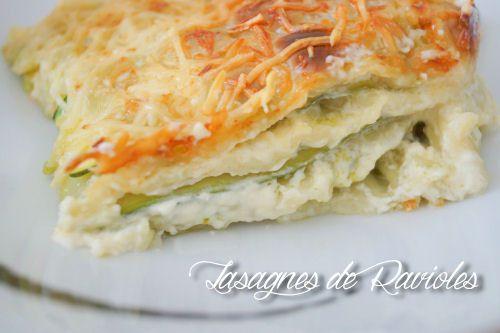 Les lasagnes de ravioles du Dauphiné, saumon courgettes