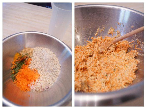 Les galettes aux carottes et sarrasin