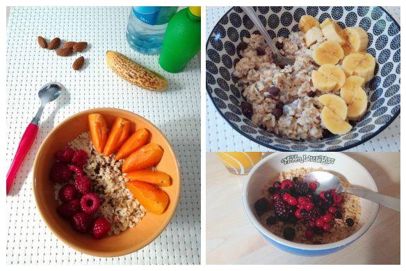 Les flocons d'avoine, idées petit-déjeuner